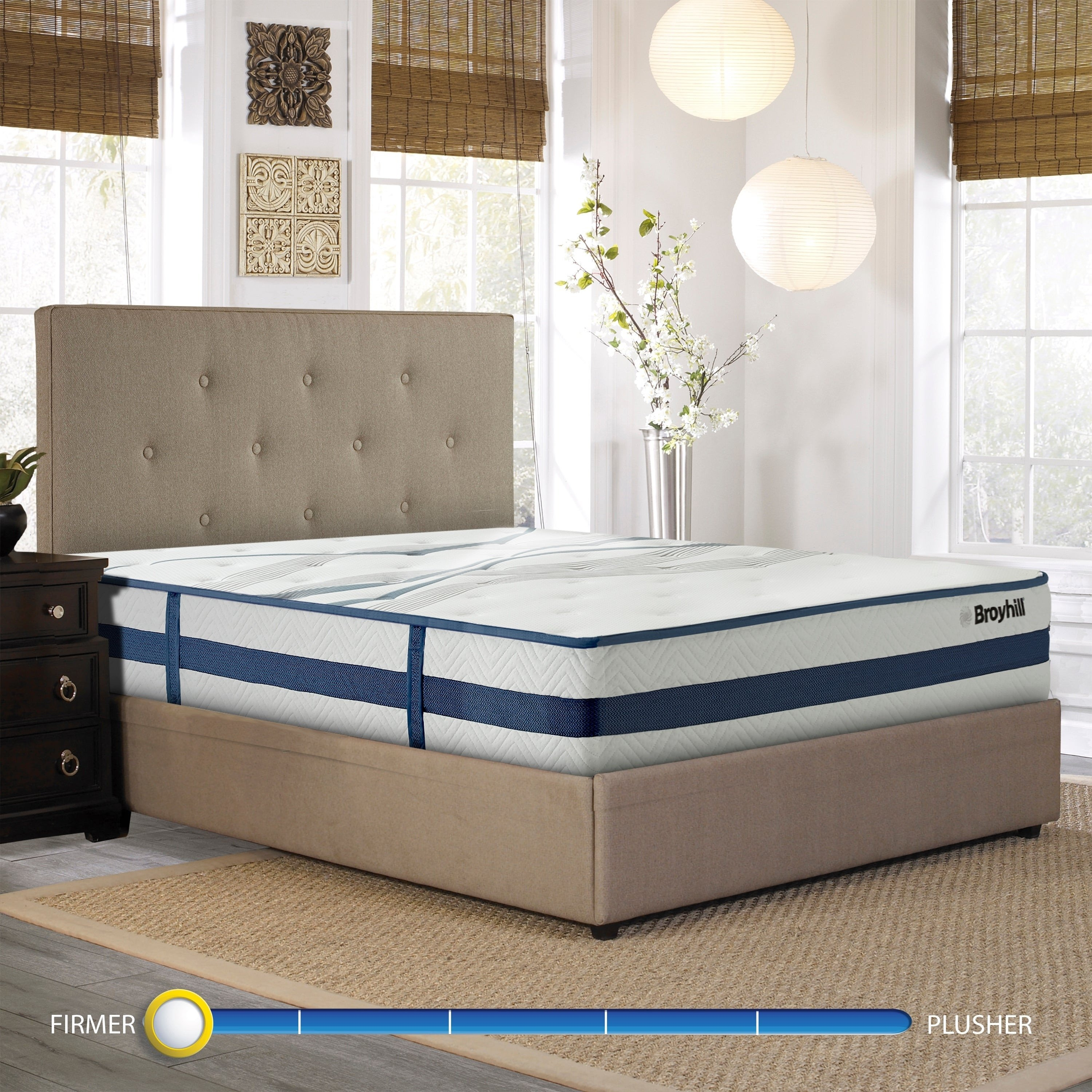 Broyhill King Bedroom Set Unique Broyhill Natural Spring Sapphire Earl 11 Inch Firm Cooling Hybrid Mattress