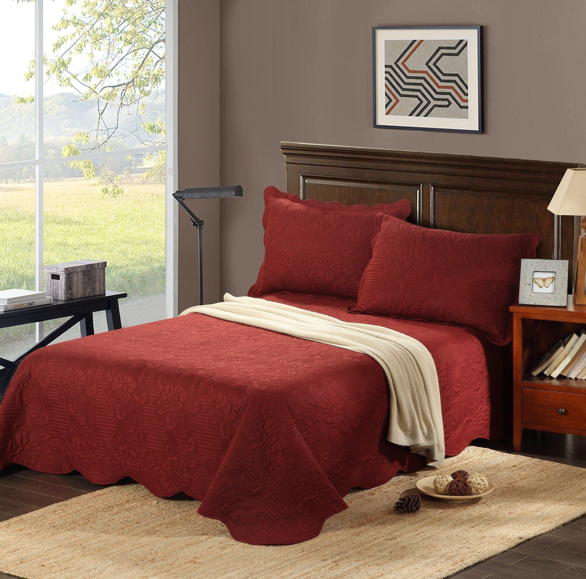 Burgundy and Gray Bedroom Best Of Tache Burgundy Autumn Marsala Bedspread Set Bju018