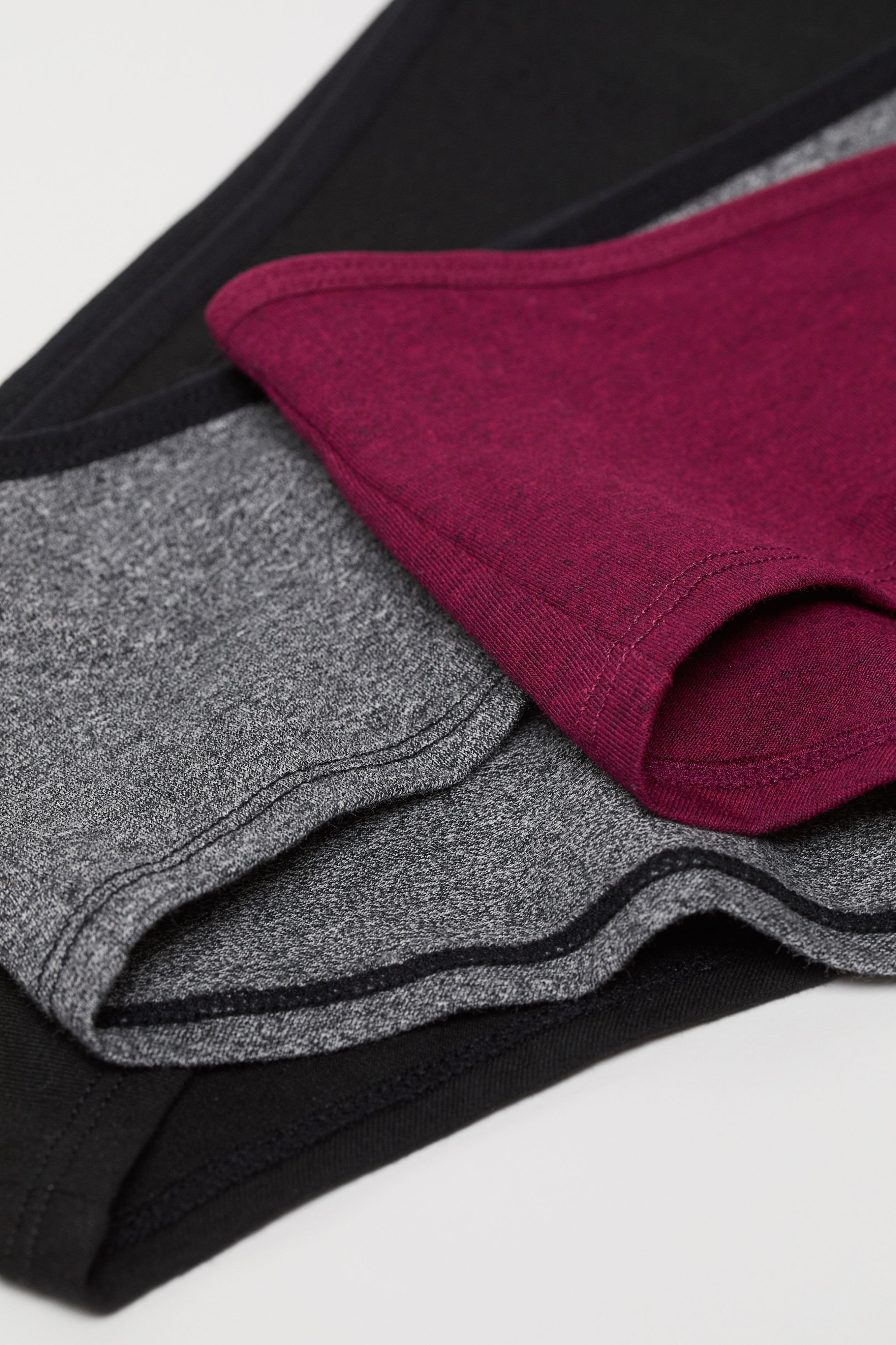 Burgundy and Gray Bedroom Elegant 3 Pack Cotton Hipster Briefs