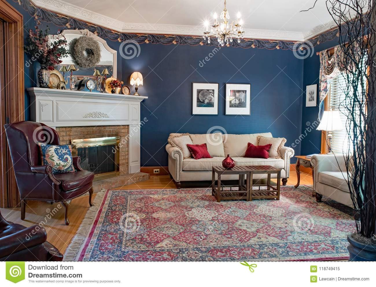 Burgundy and Gray Bedroom Inspirational Blue Victorian Living Room Editorial Image Image Of Blue