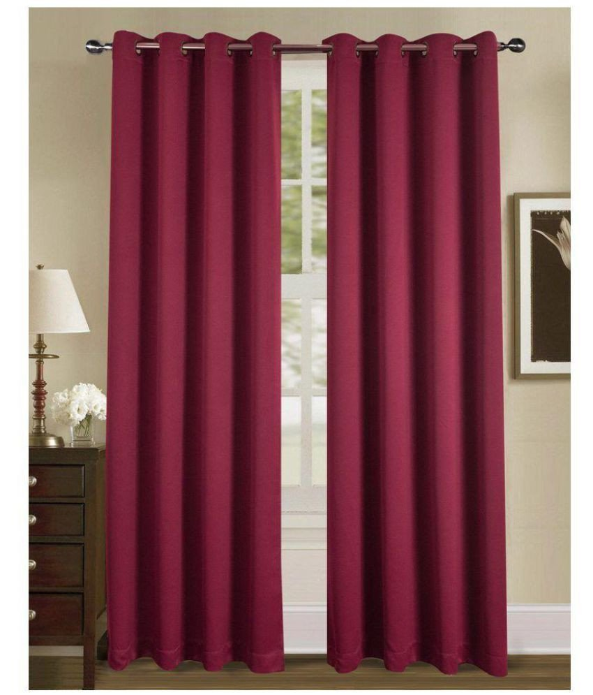 Burgundy Curtains for Bedroom Elegant American Elm Set Of 2 Window Eyelet Curtains solid Burgundy