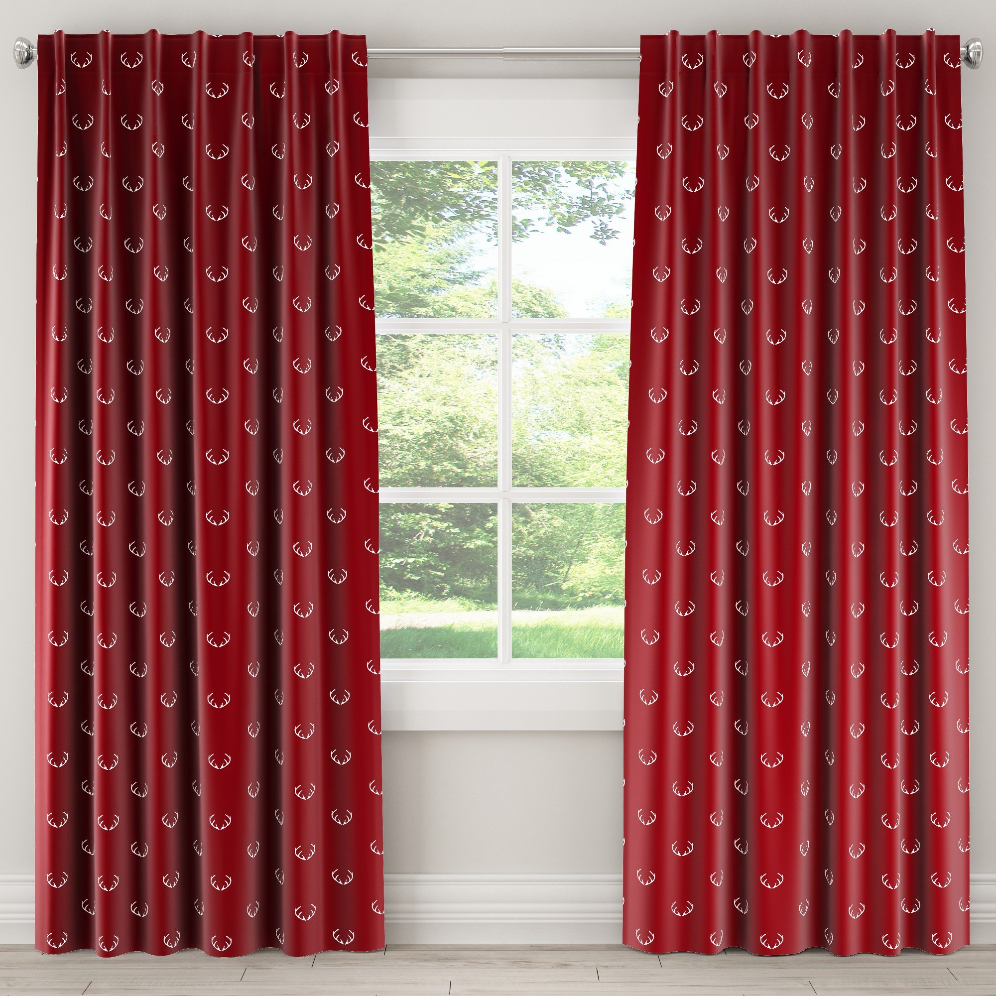 Burgundy Curtains for Bedroom Inspirational Unlined Curtains Antler Maroon Red 108l Skyline