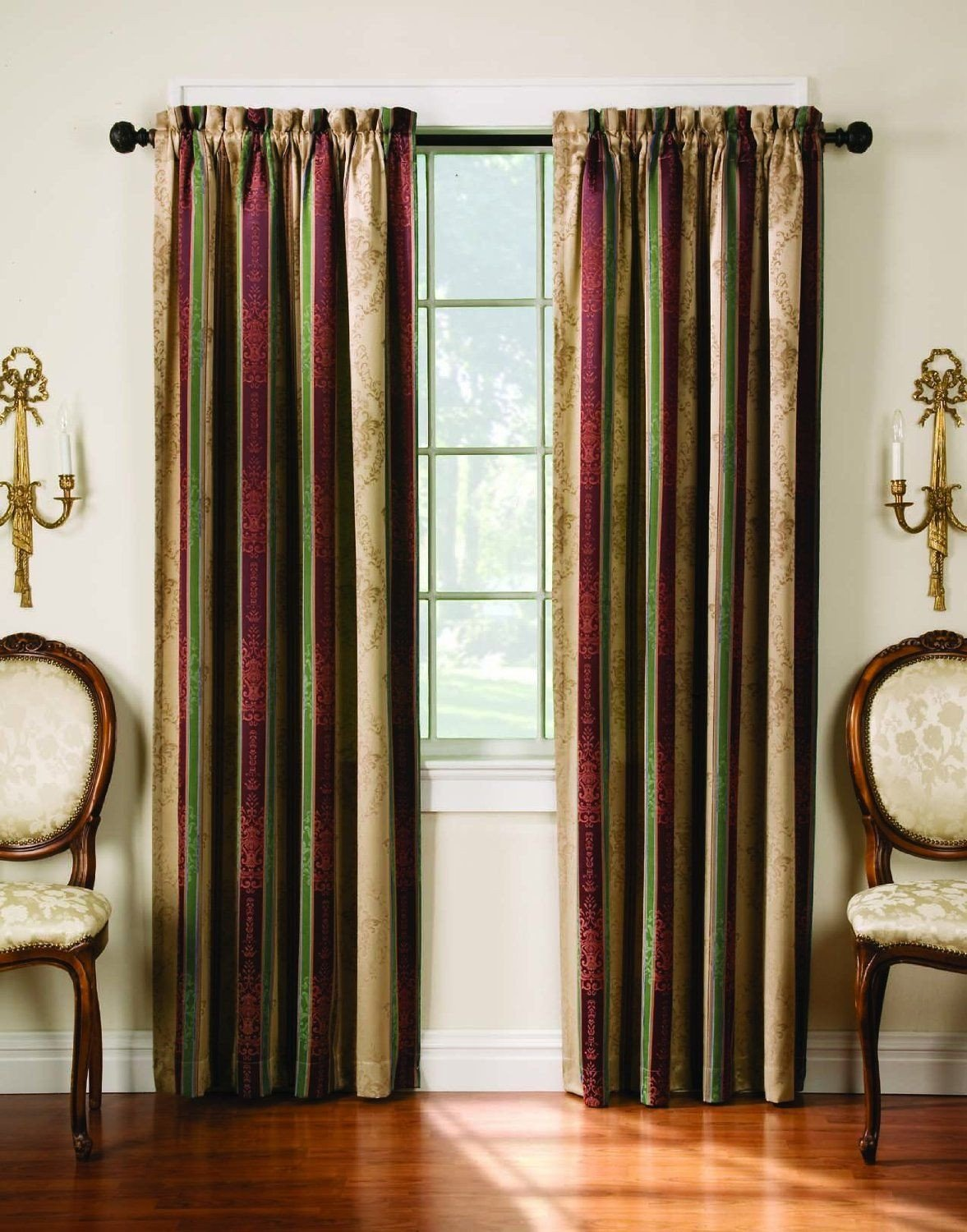 Burgundy Curtains for Bedroom Lovely Amazon 52 Inch by 84 Inch Tuscan Stripe thermal Backed