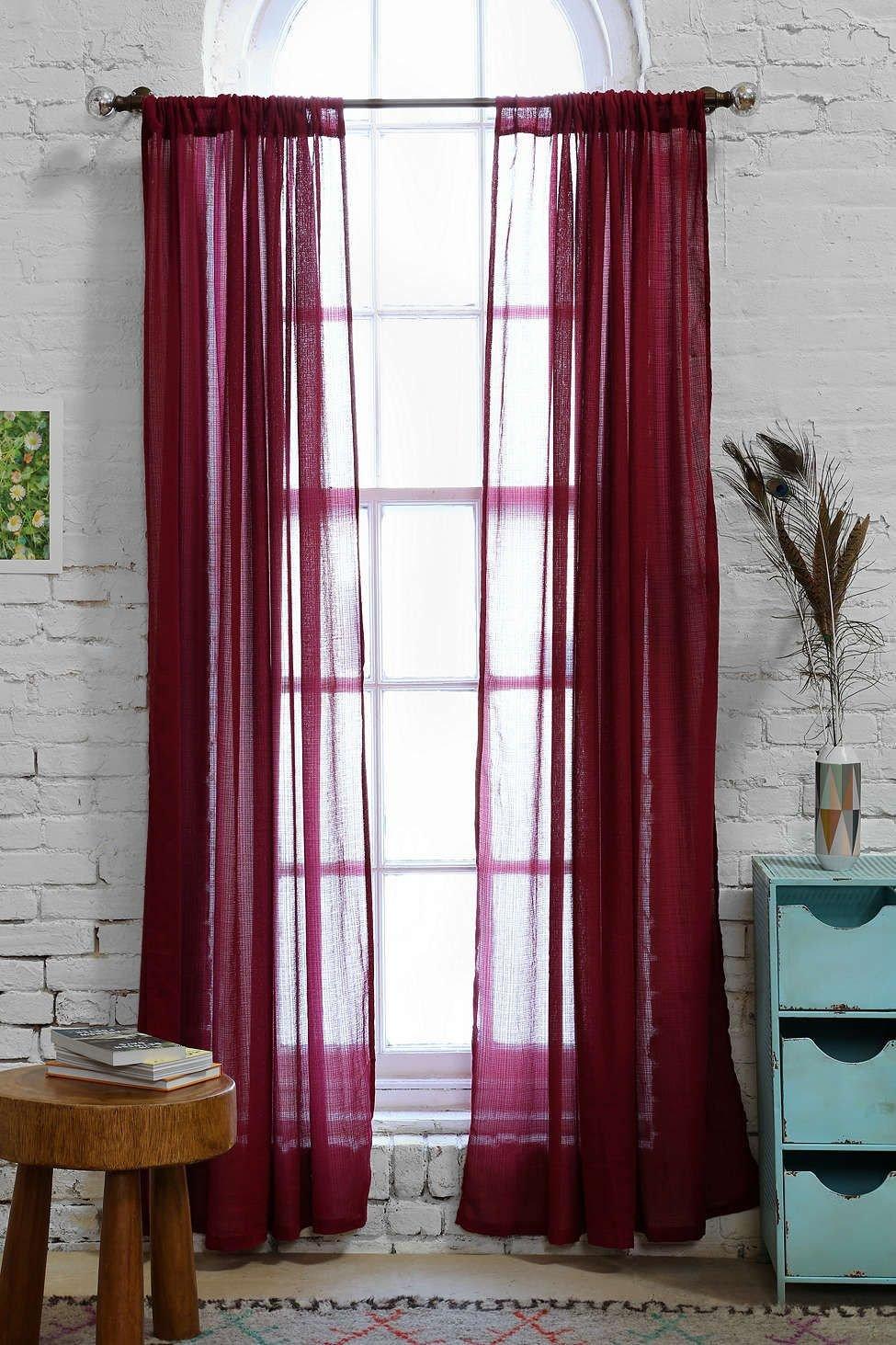 Burgundy Curtains for Bedroom Unique Chloe Gauze Curtain