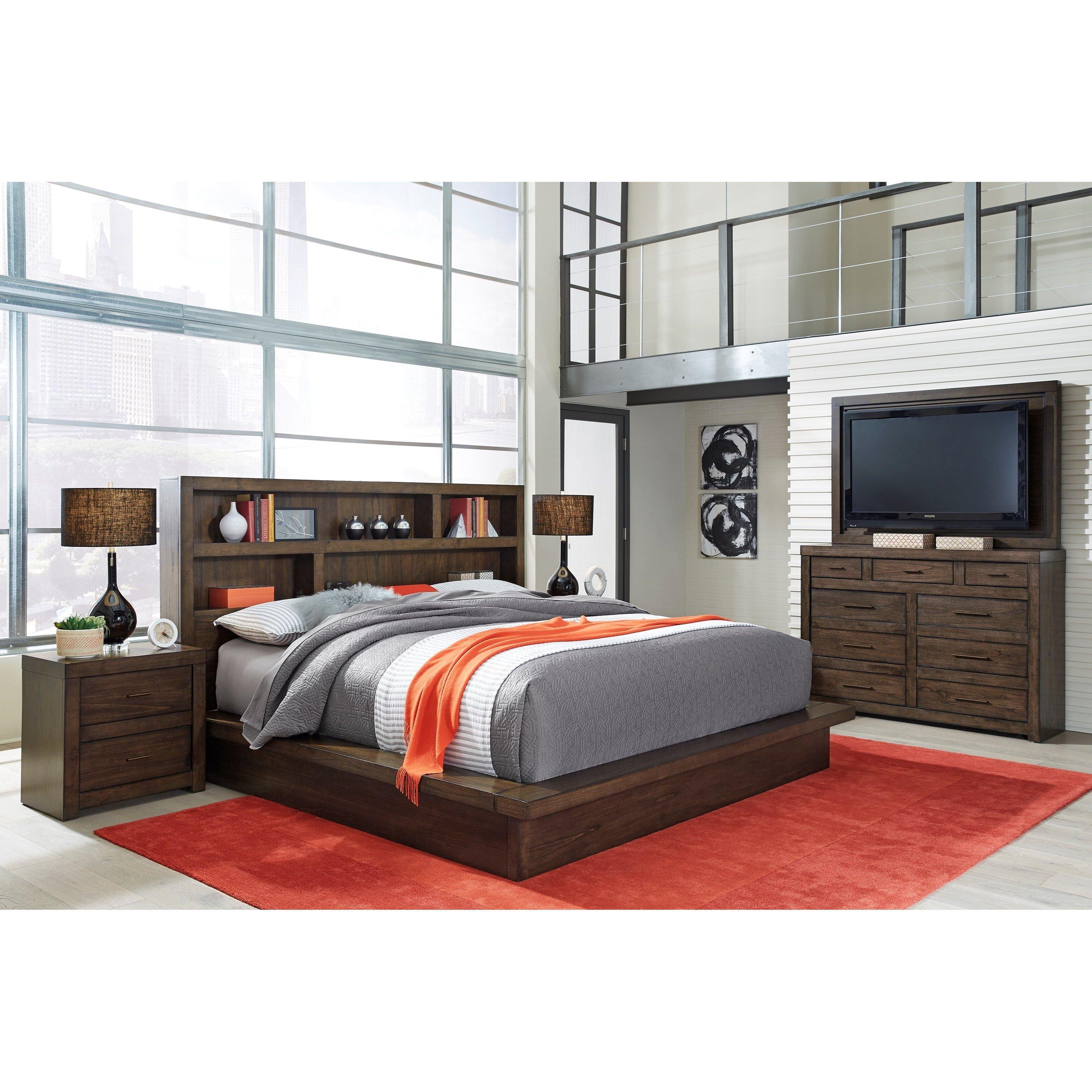 California King Bedroom Set Elegant Modern Loft California King Bedroom Group by aspenhome