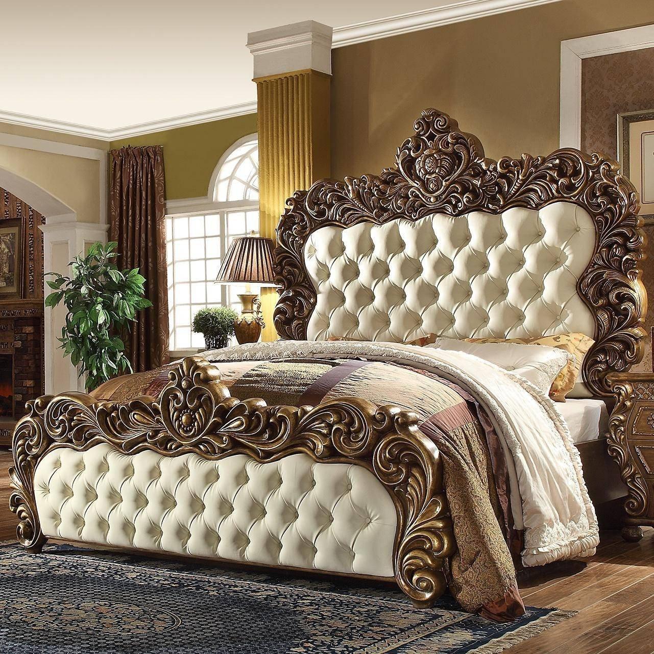 California King Bedroom Set New Rich Walnut Golden Finish Cal King Bedroom Set 5pcs