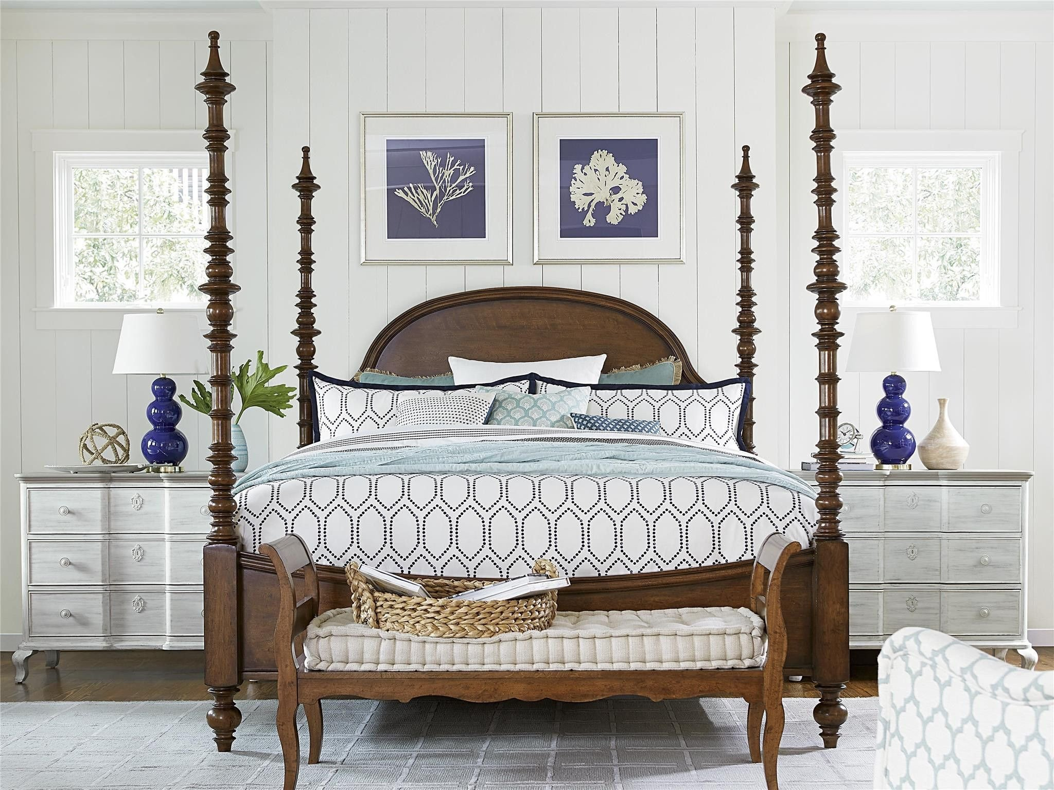 California King Canopy Bedroom Set Fresh Paula Deen Dogwood Cal King Poster Bed Low Tide Finish