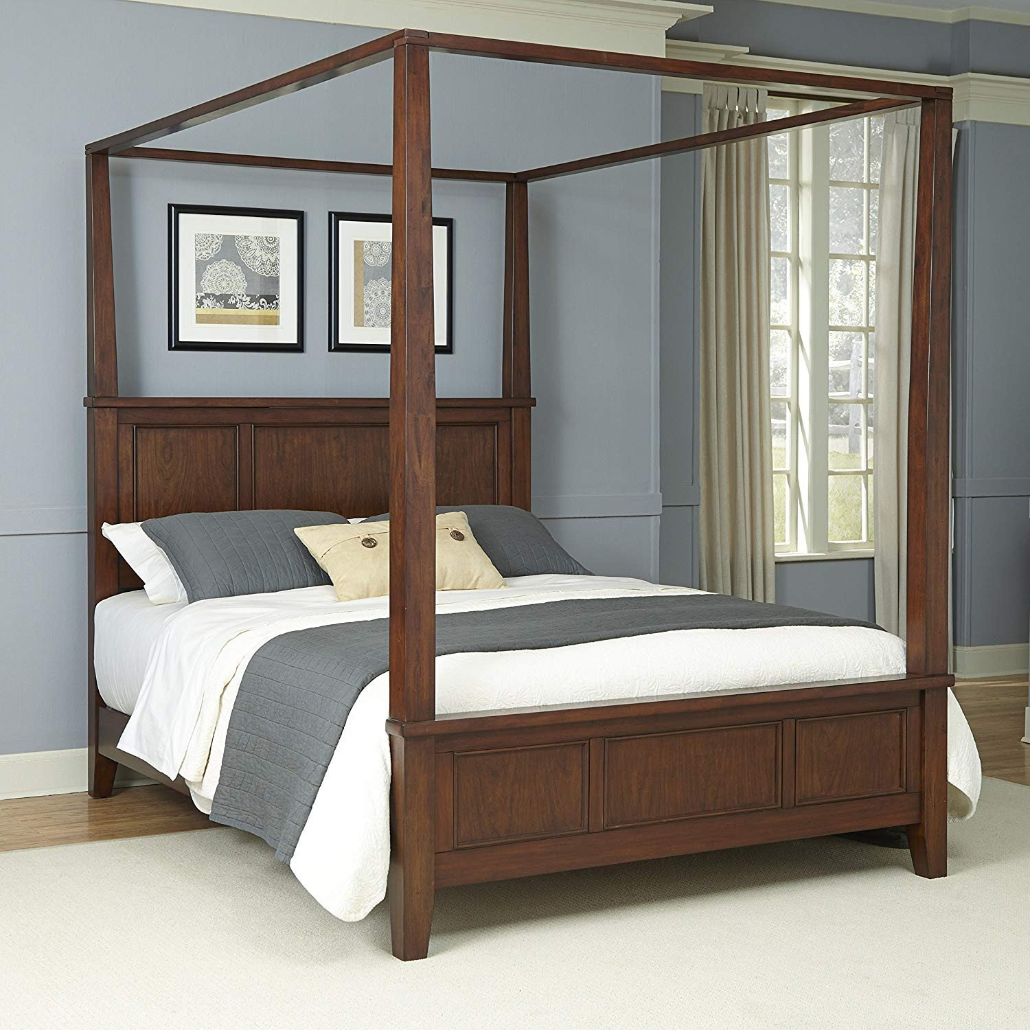 California King Canopy Bedroom Set Inspirational Amazon Chesapeake Classic Cherry King Canopy Bed and