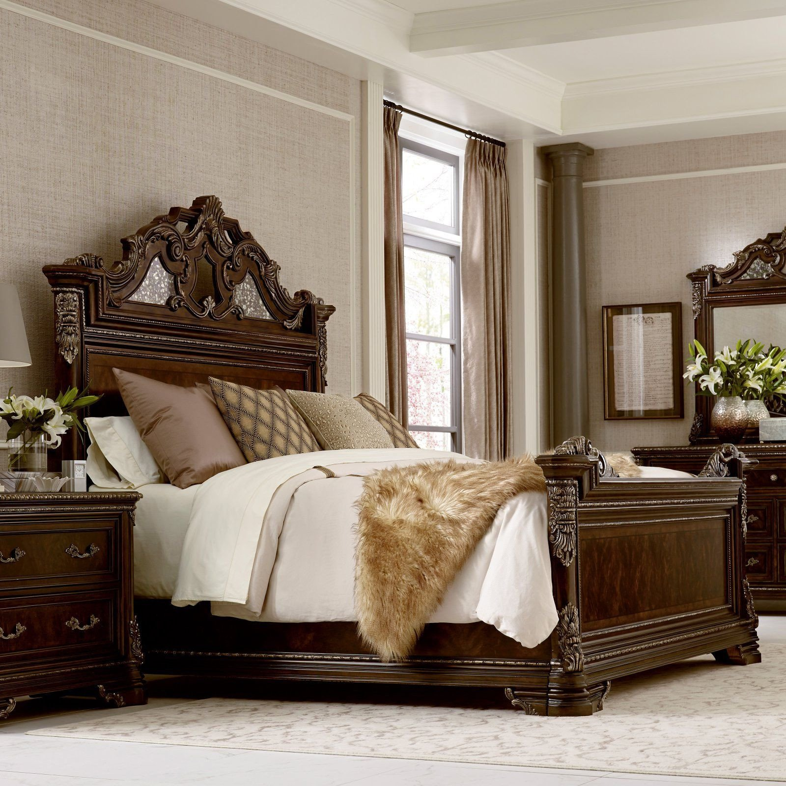 California King Size Bedroom Furniture Set New A R T Furniture Gables Estate Bed Size California King