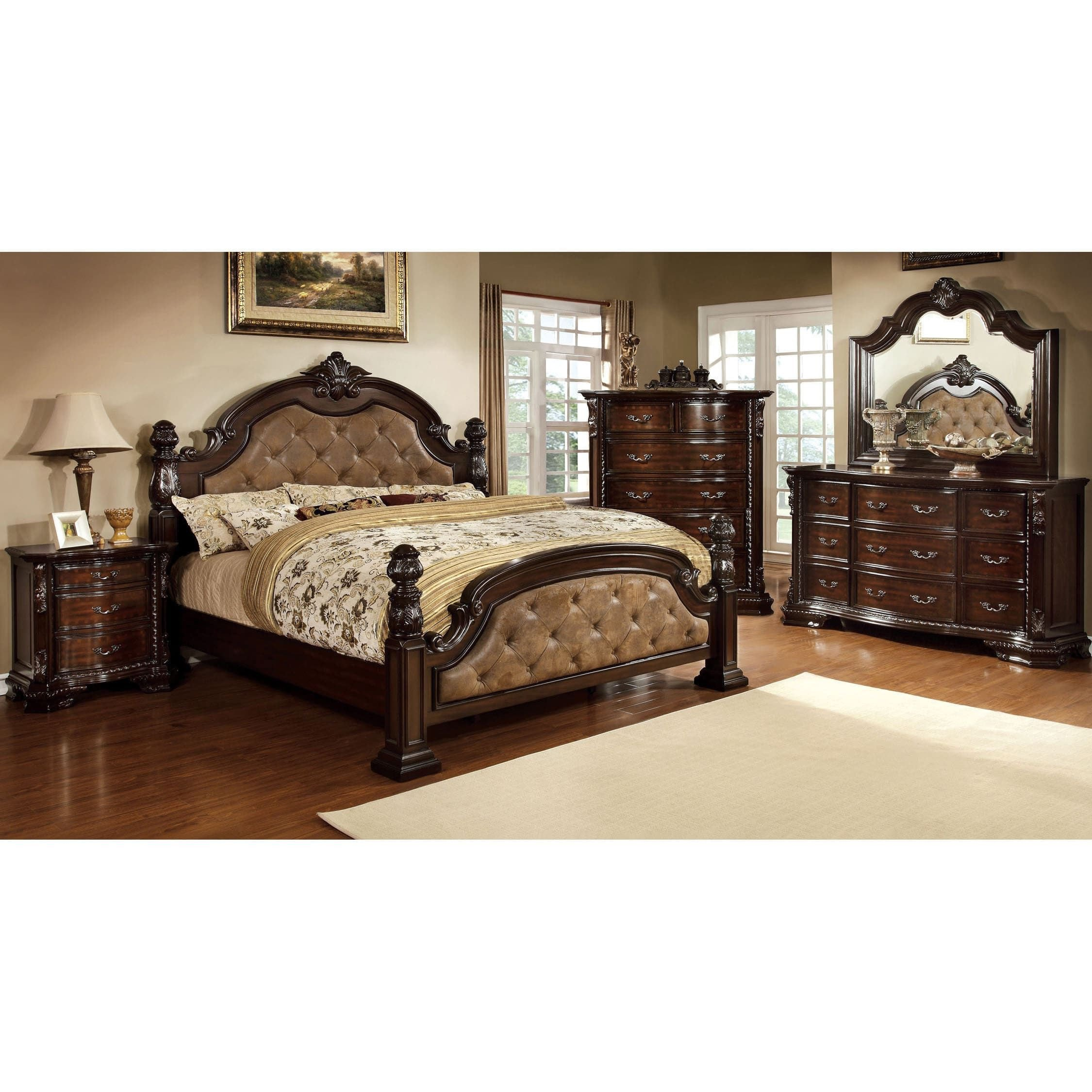 California King Size Bedroom Furniture Set New Kassania Traditional 4 Piece Bedroom Set by Foa California