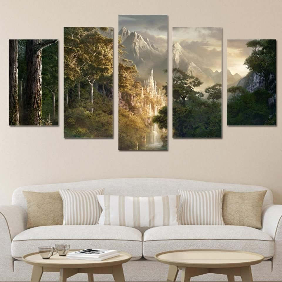 Canvas Painting for Bedroom Awesome Wall Art Canvas Painting Hd Printed Landscape Mountain