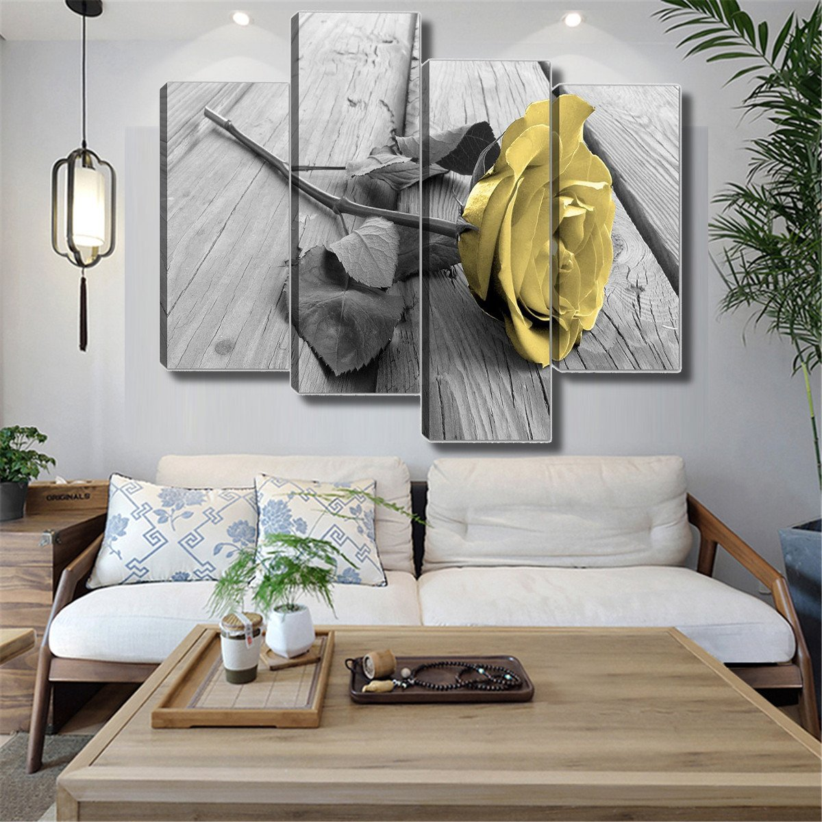 Canvas Painting for Bedroom Beautiful Details About Canvas Art Painting Of Yellow Rose Wall Hanging Living Room Home