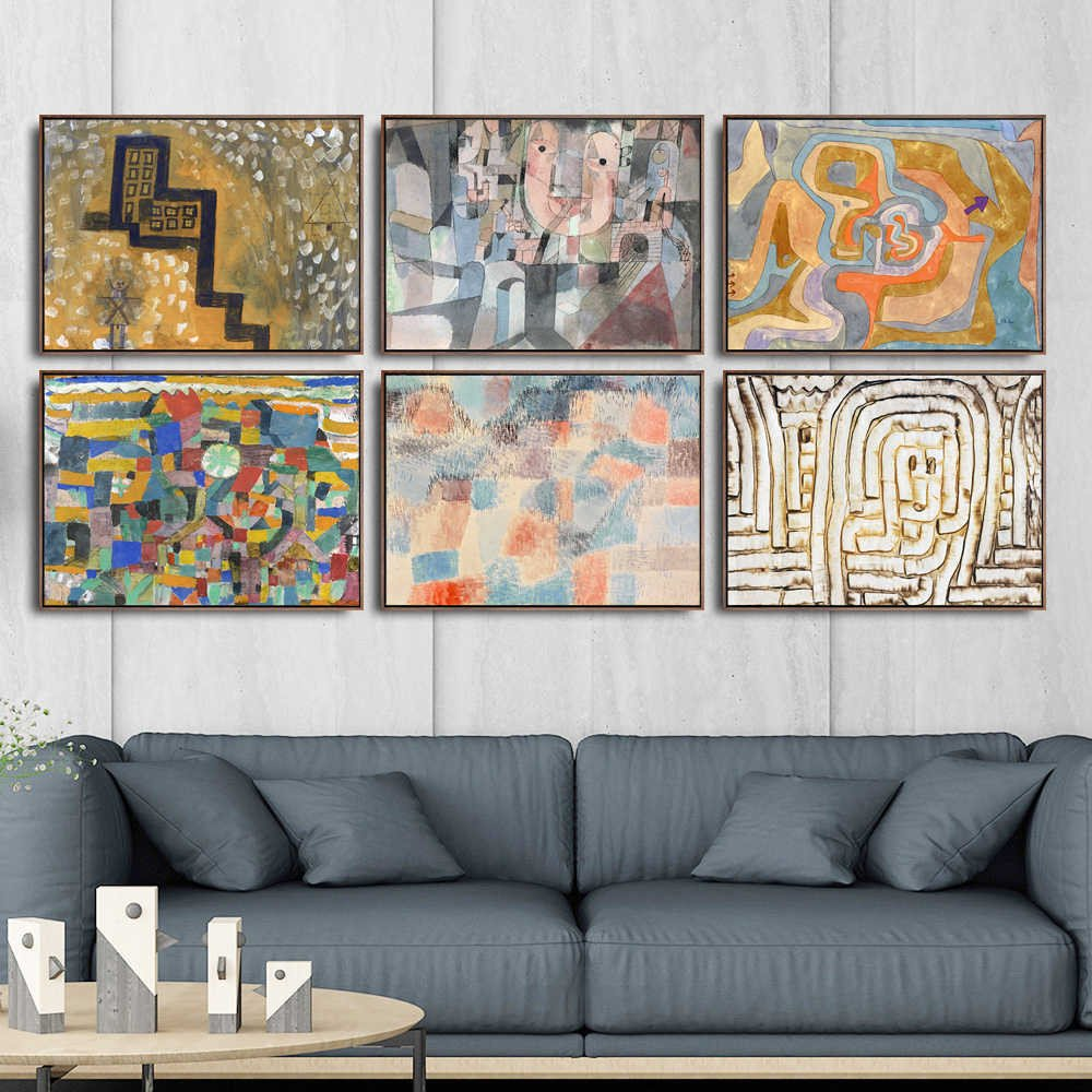 Canvas Painting for Bedroom Fresh Home Decoration Art Wall Fro Living Room Poster Print Canvas Paintings Switzerland Paul Klee Abstract Oil Painting