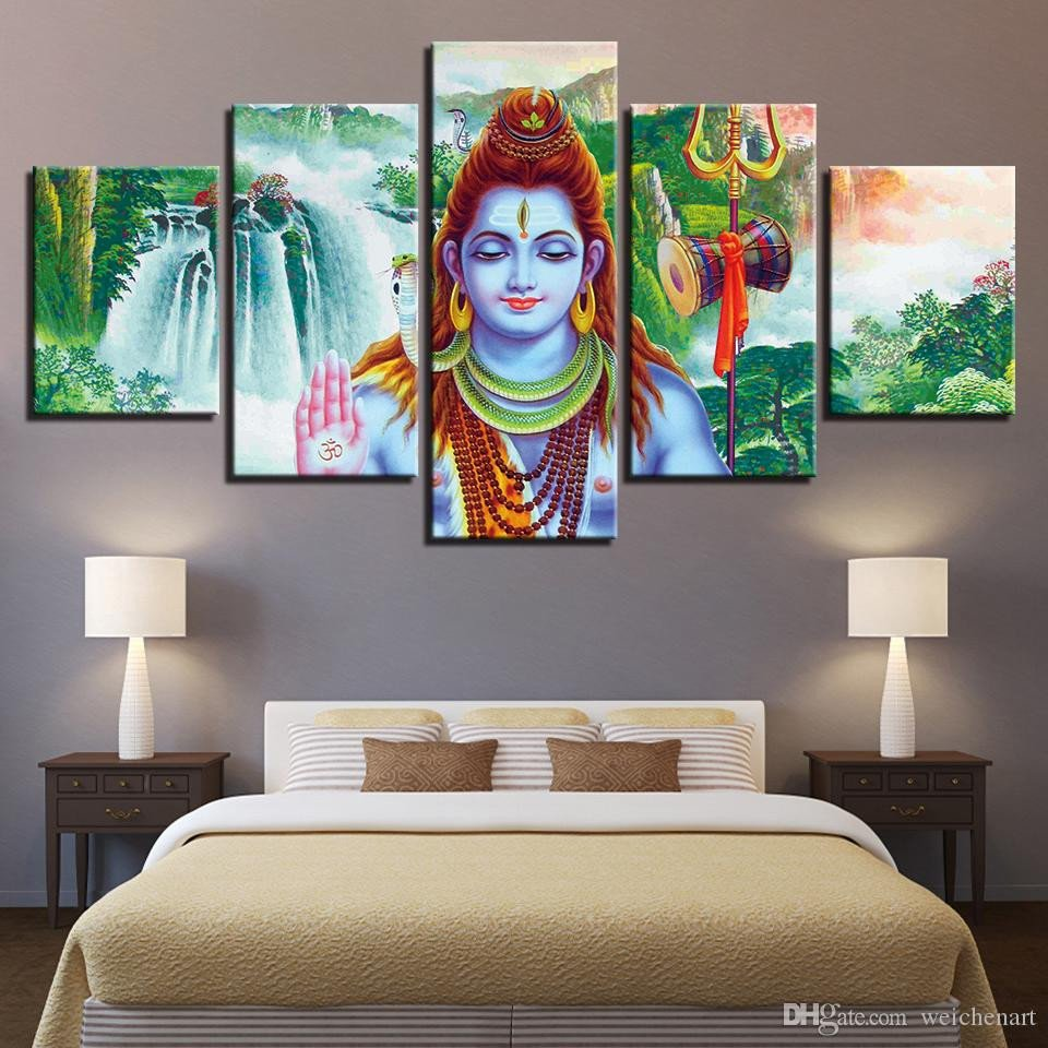 Canvas Painting for Bedroom Inspirational 2019 Canvas Paintings Living Room Decor Wall Art India God Shiva Poster Hd Prints Abstract Waterfall Scenery Framed From Weichenart $36 18
