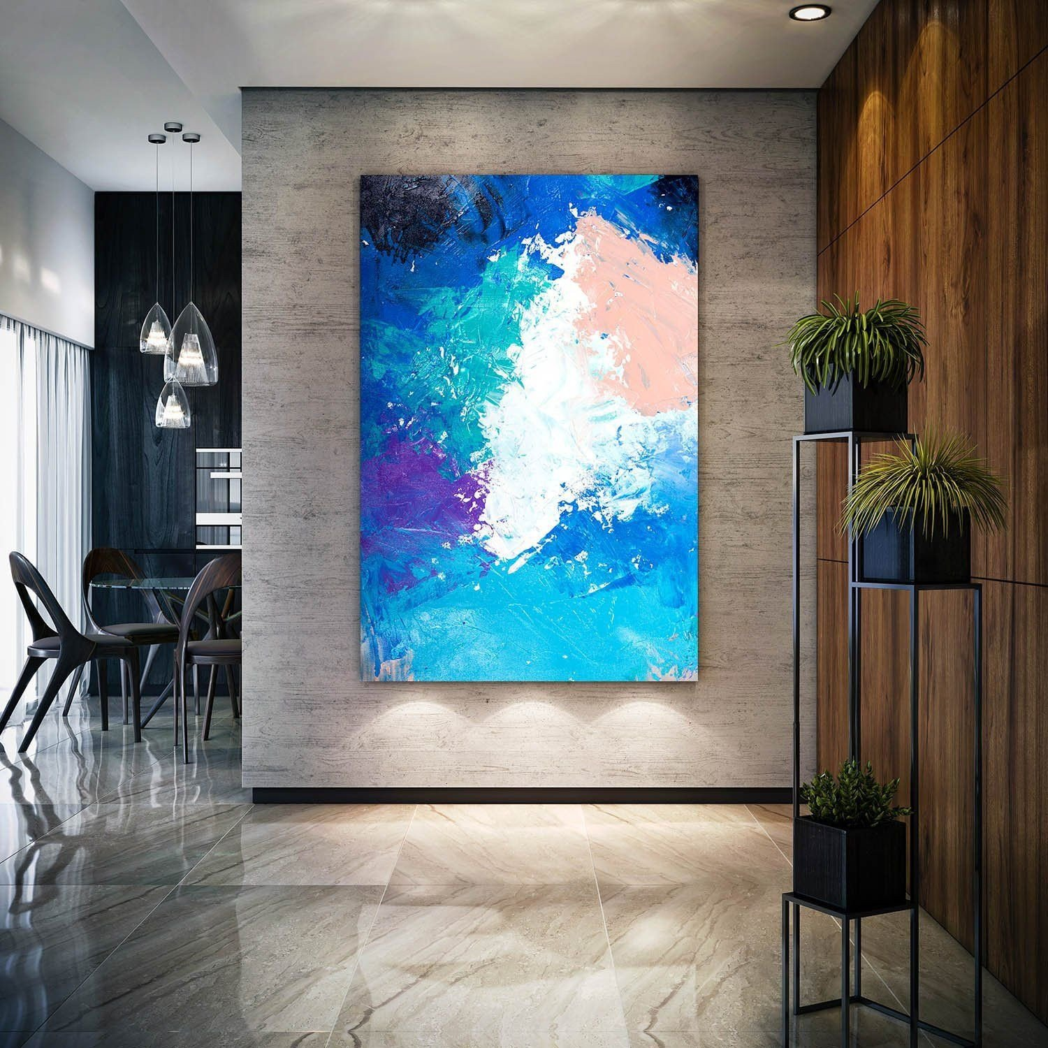 Canvas Painting for Bedroom Unique original Abstract Painting On Canvas Textured Horizontal