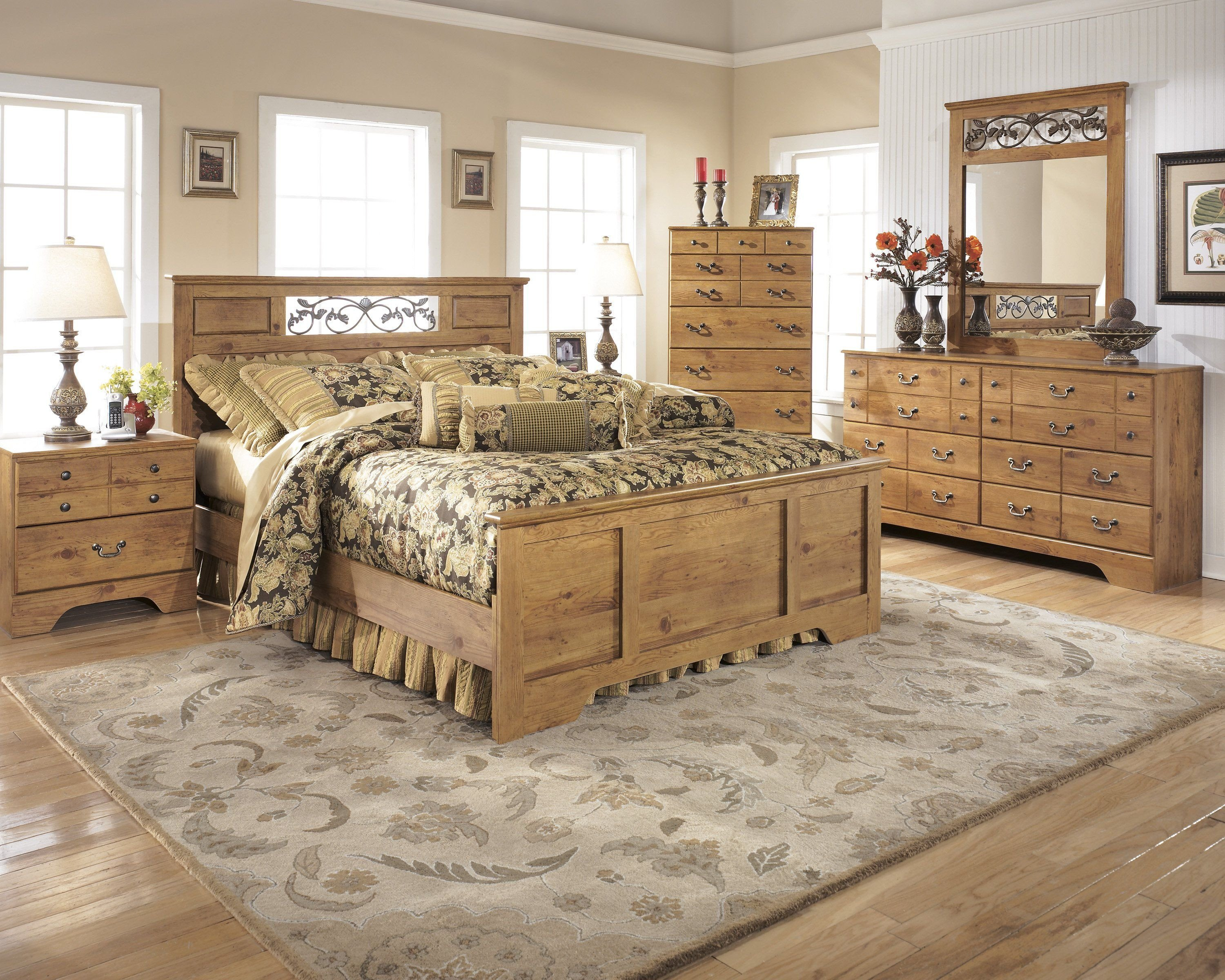 Cedar Log Bedroom Furniture Awesome Signature Design by ashley Bittersweet 4 Piece Queen Panel