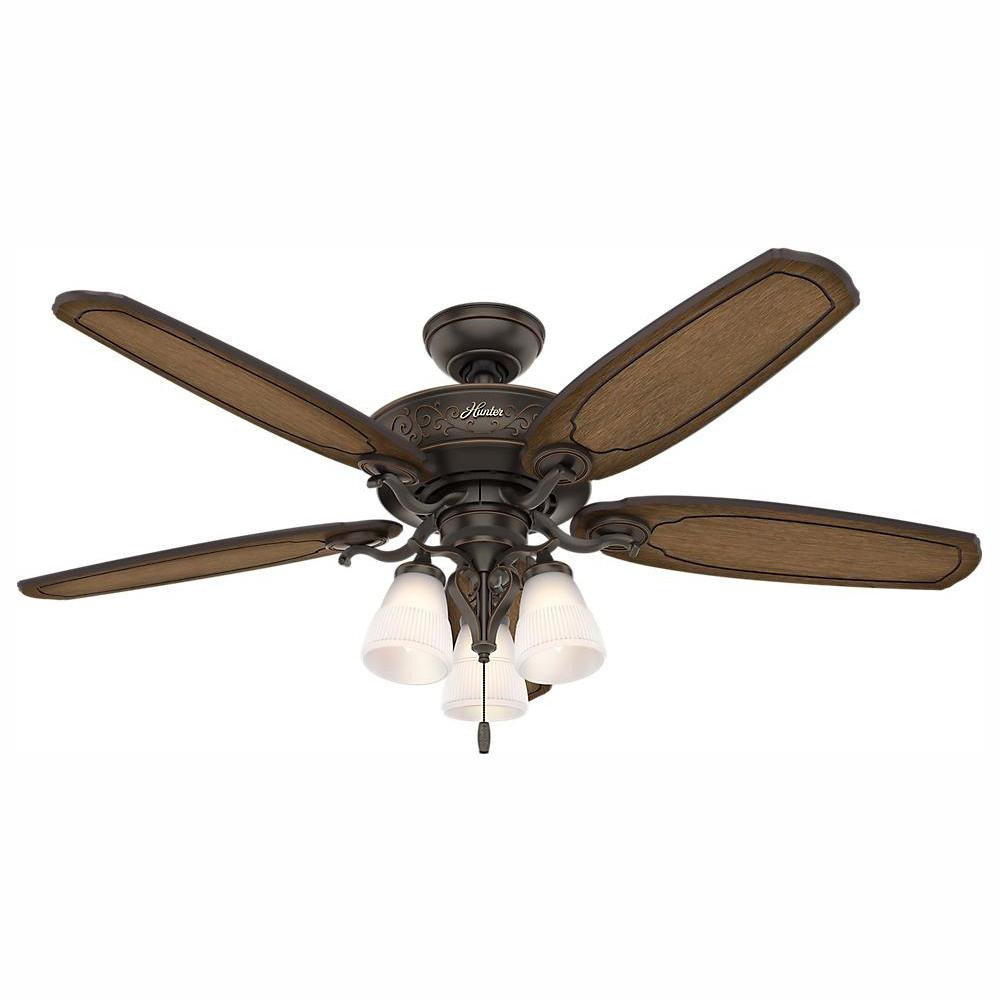 Ceiling Fan for Bedroom New Hunter Osbourne 54 In Led Indoor Yx Bengal Ceiling Fan