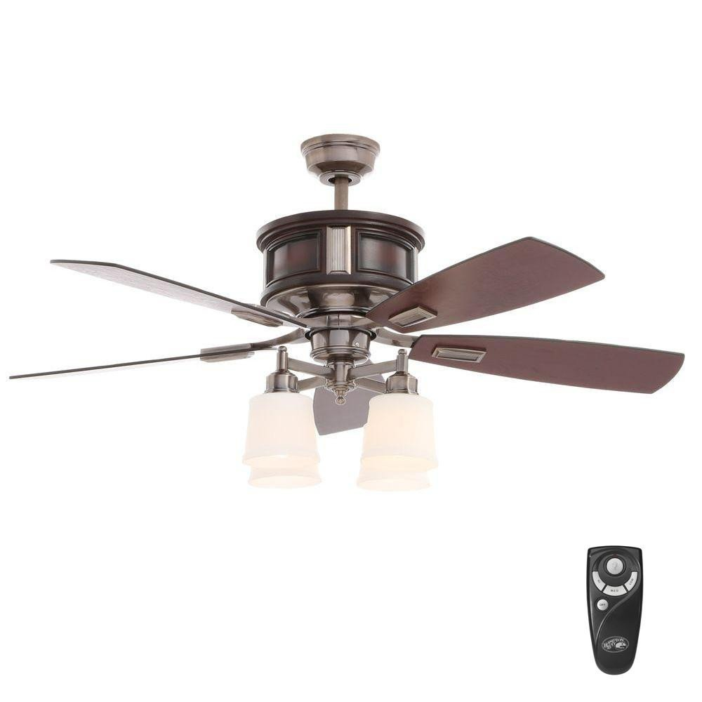 Ceiling Fan for Bedroom Unique Hampton Bay Garrison 52 In Indoor Gunmetal Ceiling Fan with