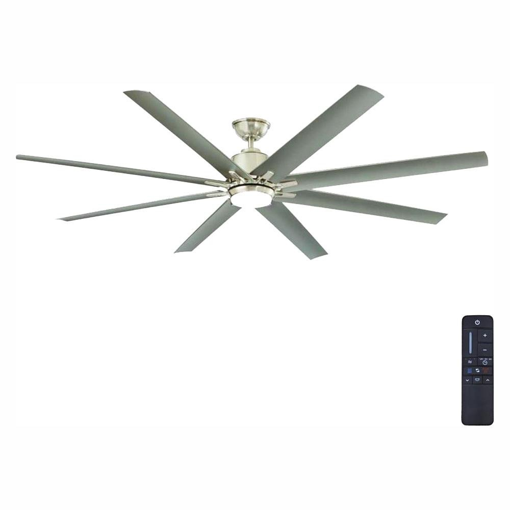 Ceiling Fans for Girl Bedroom Fresh Home Decorators Collection Kensgrove 72 In Integrated Led Indoor Outdoor Brushed Nickel Ceiling Fan with Light Kit and Remote Control