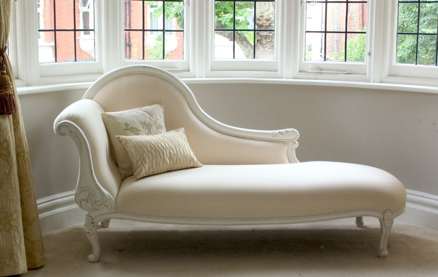 Chaise Chair for Bedroom Luxury Classical White Chaise Longue Sweet Pea and Willow