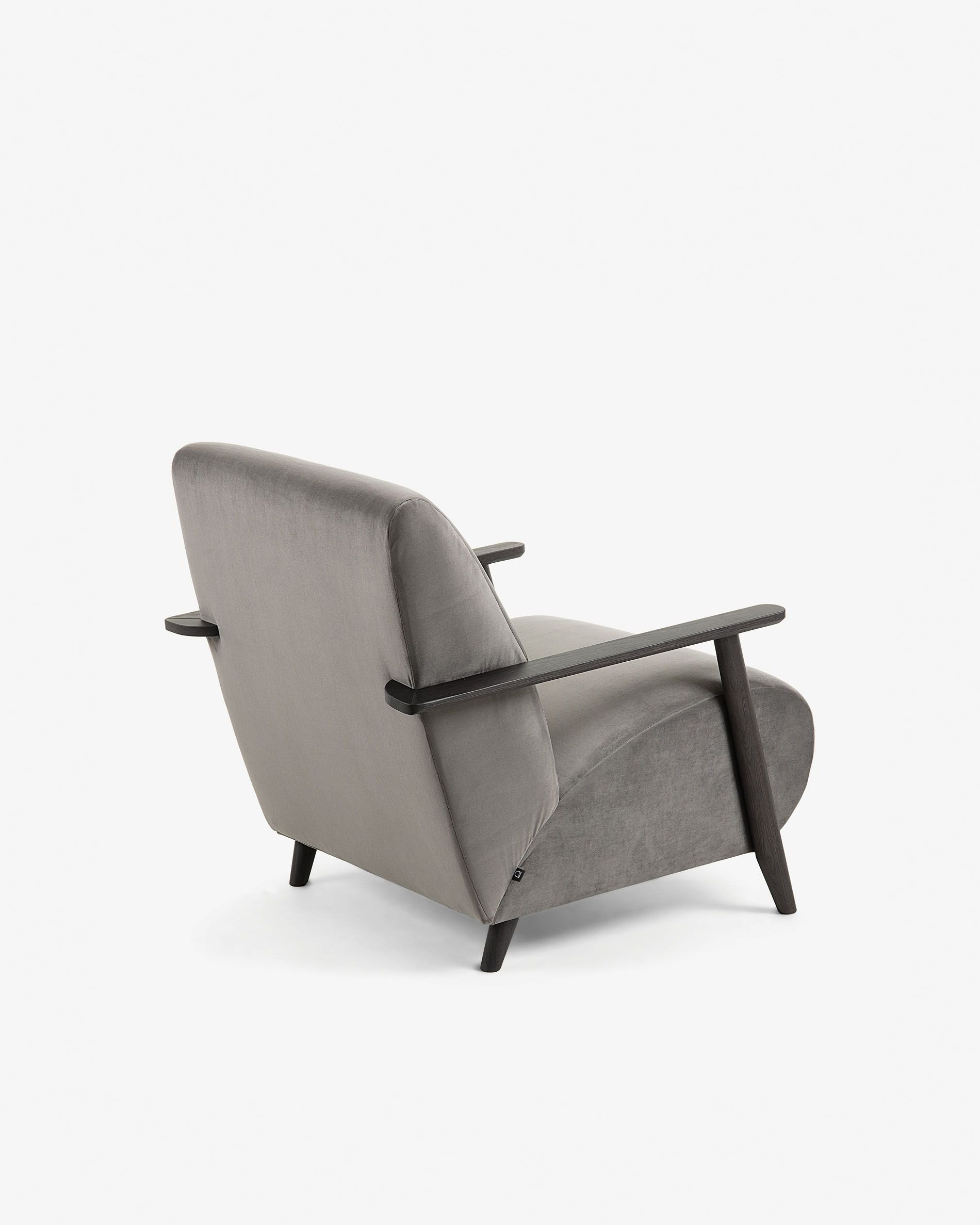 Chaise Chair for Bedroom New Grey Velvet Meghan Armchair