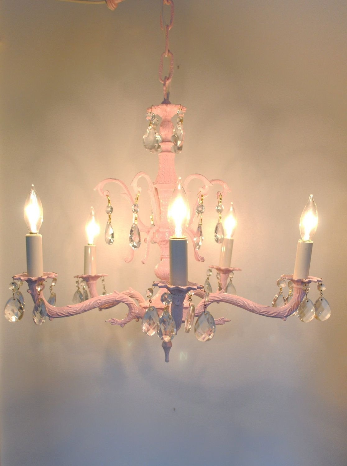 Chandelier for Girls Bedroom Best Of Vintage Crystal Chandelier Pink Hollywood Regency Girl S