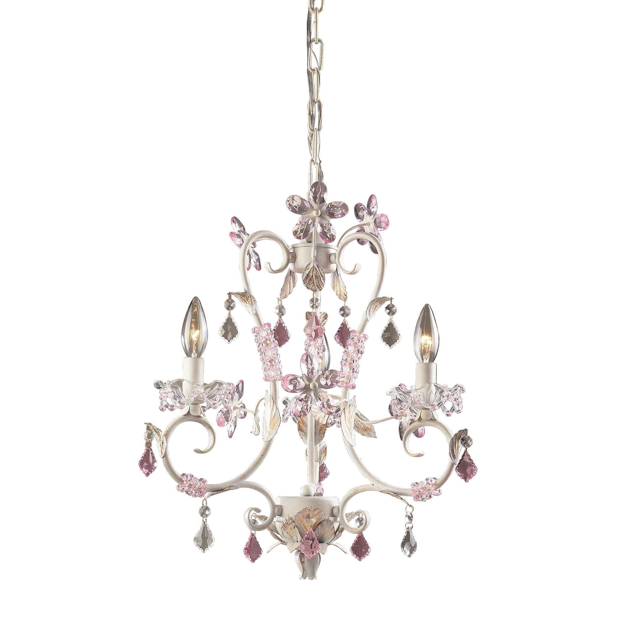 Chandelier for Girls Bedroom Lovely Julia 3 Light Chandelier In Antique White Rose and Clear