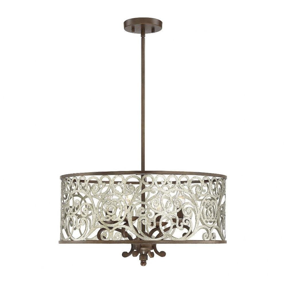 "Chandelier Light for Bedroom Elegant Erhardt 22"" Four Light Pendant"