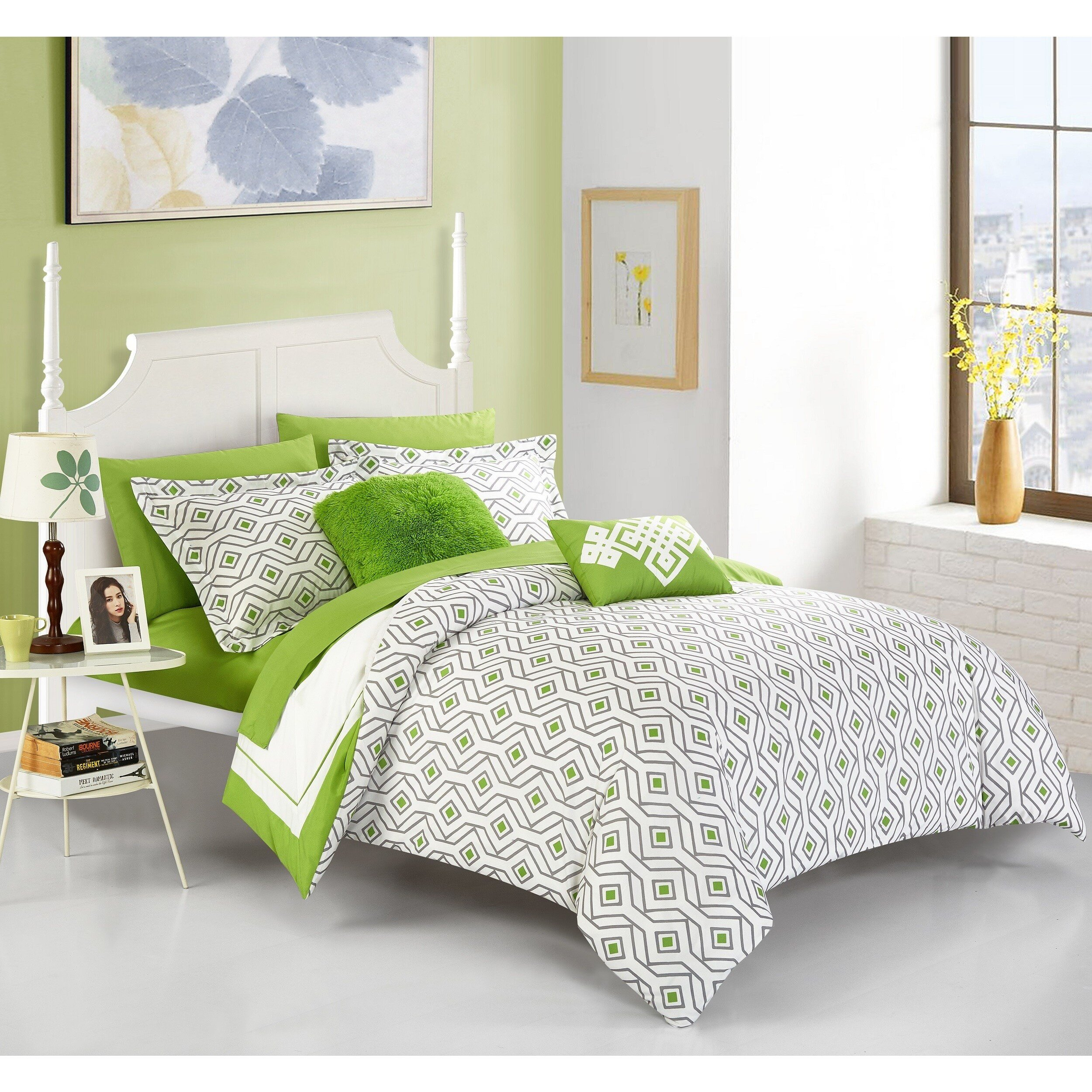 Cheap Bedroom Comforter Set Awesome Chic Home Alon Green 9 Piece Plete Bed In A Bag Reversible forter Set