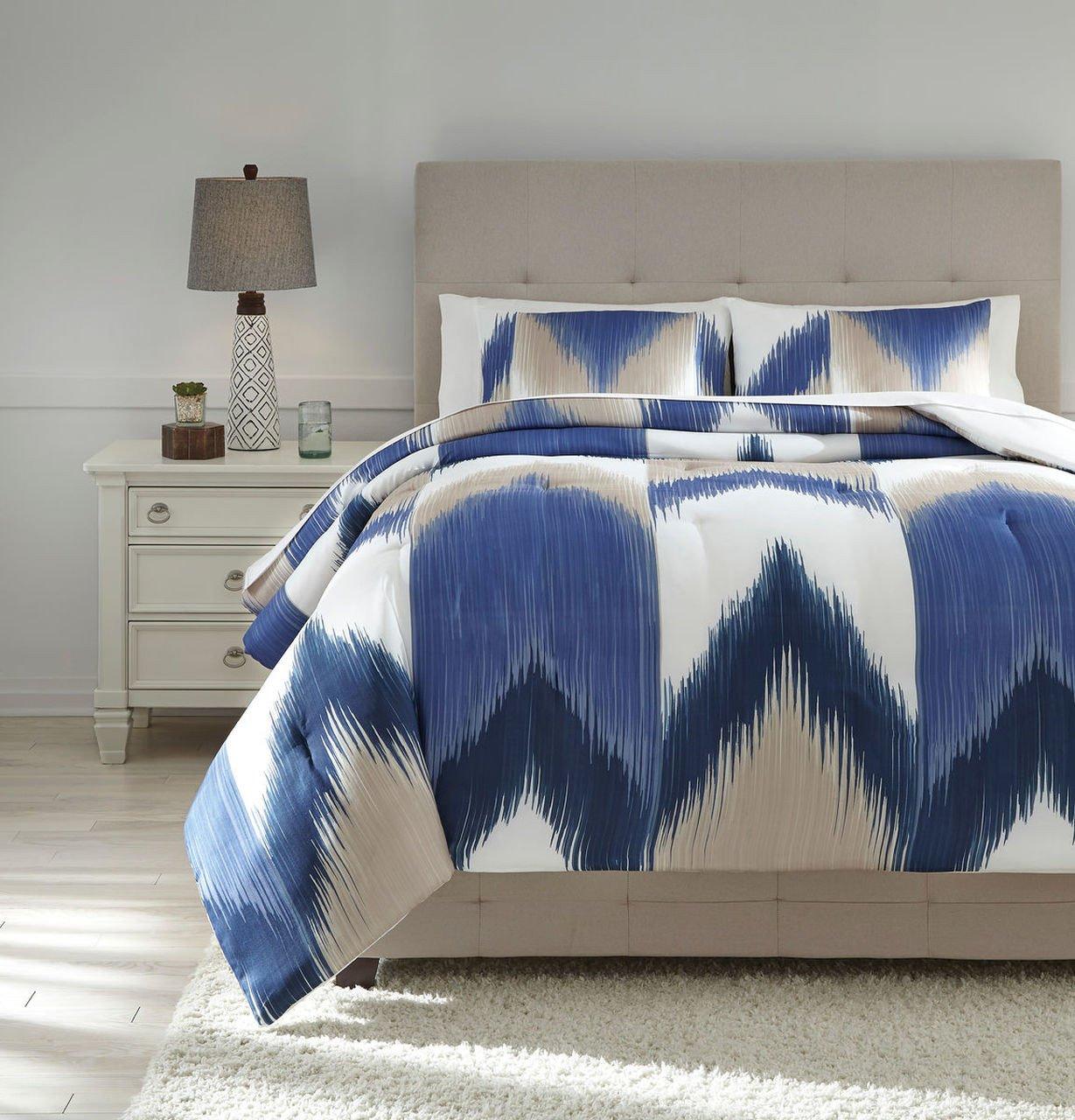 Cheap Bedroom Comforter Set Elegant Mayda Blue F White King forter Set