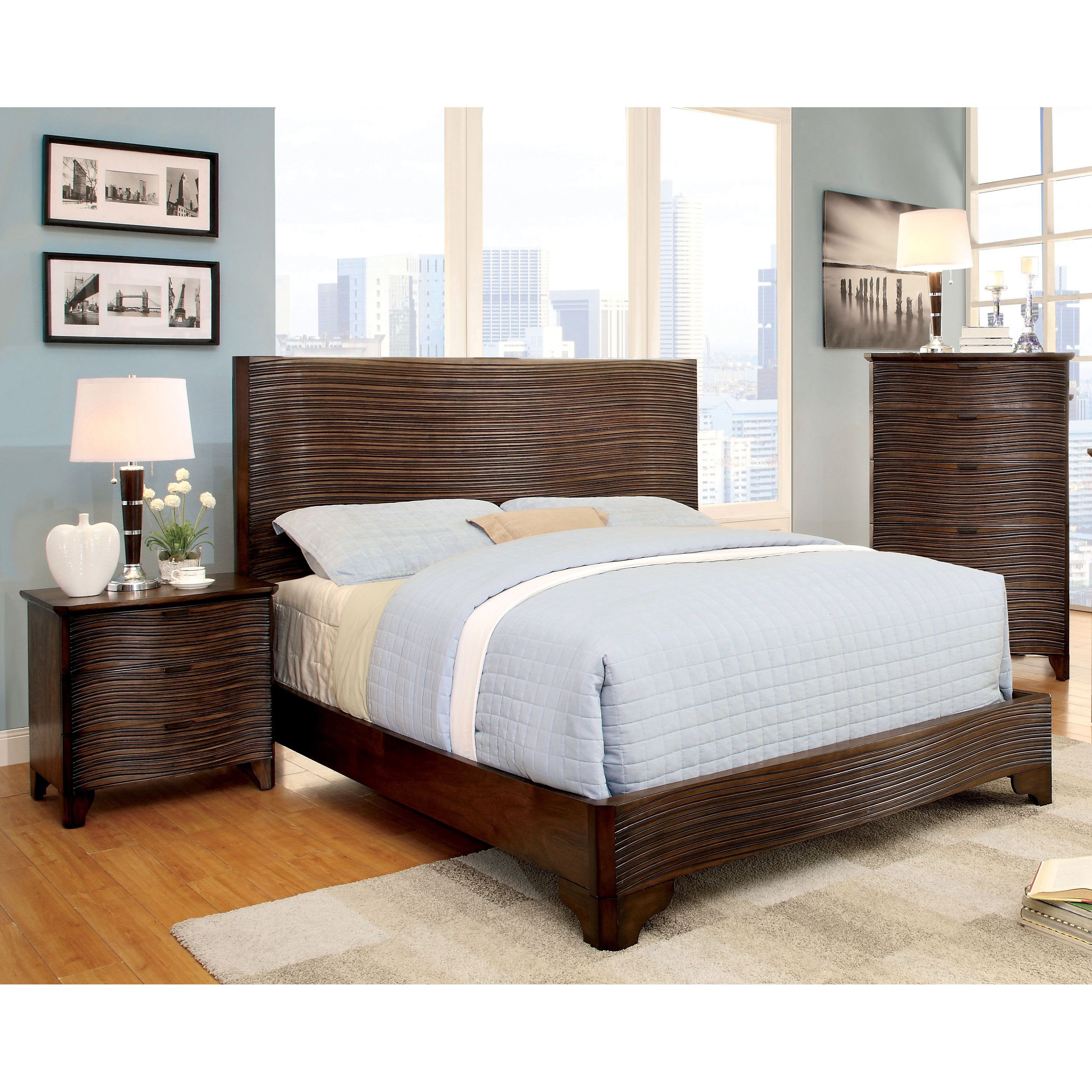 Cheap Bedroom Decor Online Shopping Inspirational Furniture Of America Titanean 2 Piece Textured Rustic Bed