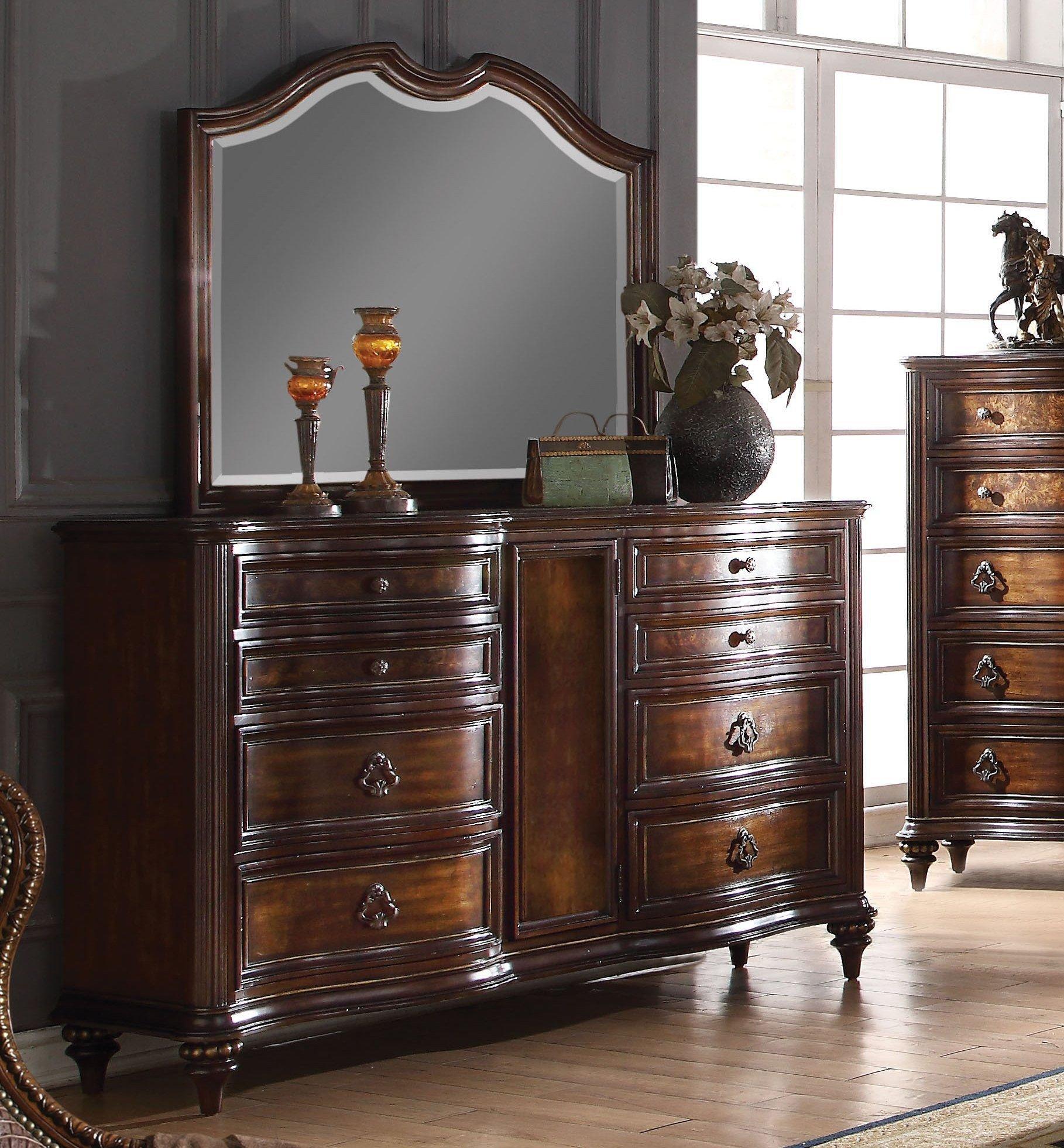 Cheap Bedroom Dresser Set Unique Acme Azis Dark Walnut Drawer Dresser and Mirror
