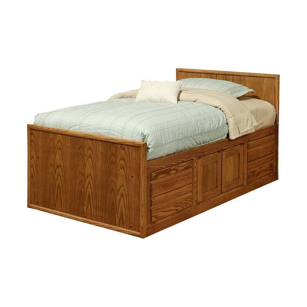Cheap Bedroom Set Twin Fresh Od O C284 T Contemporary Oak Chest Bed with 4 Drawers & 2 Doors and Flat Panel Headboard Twin Size