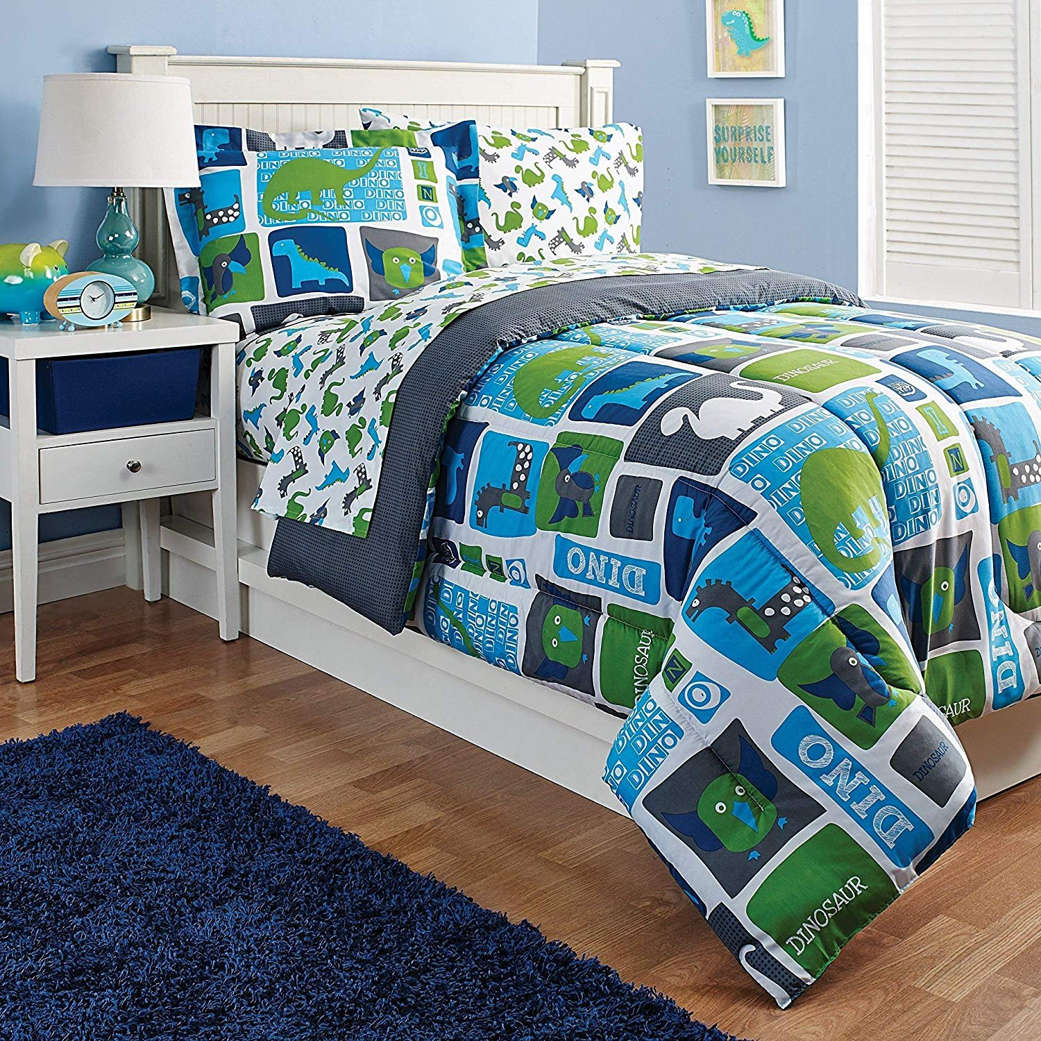 Cheap Childrens Bedroom Set New Amazon Dinosaurs Kids Sheet Set Twin Size Blue Green