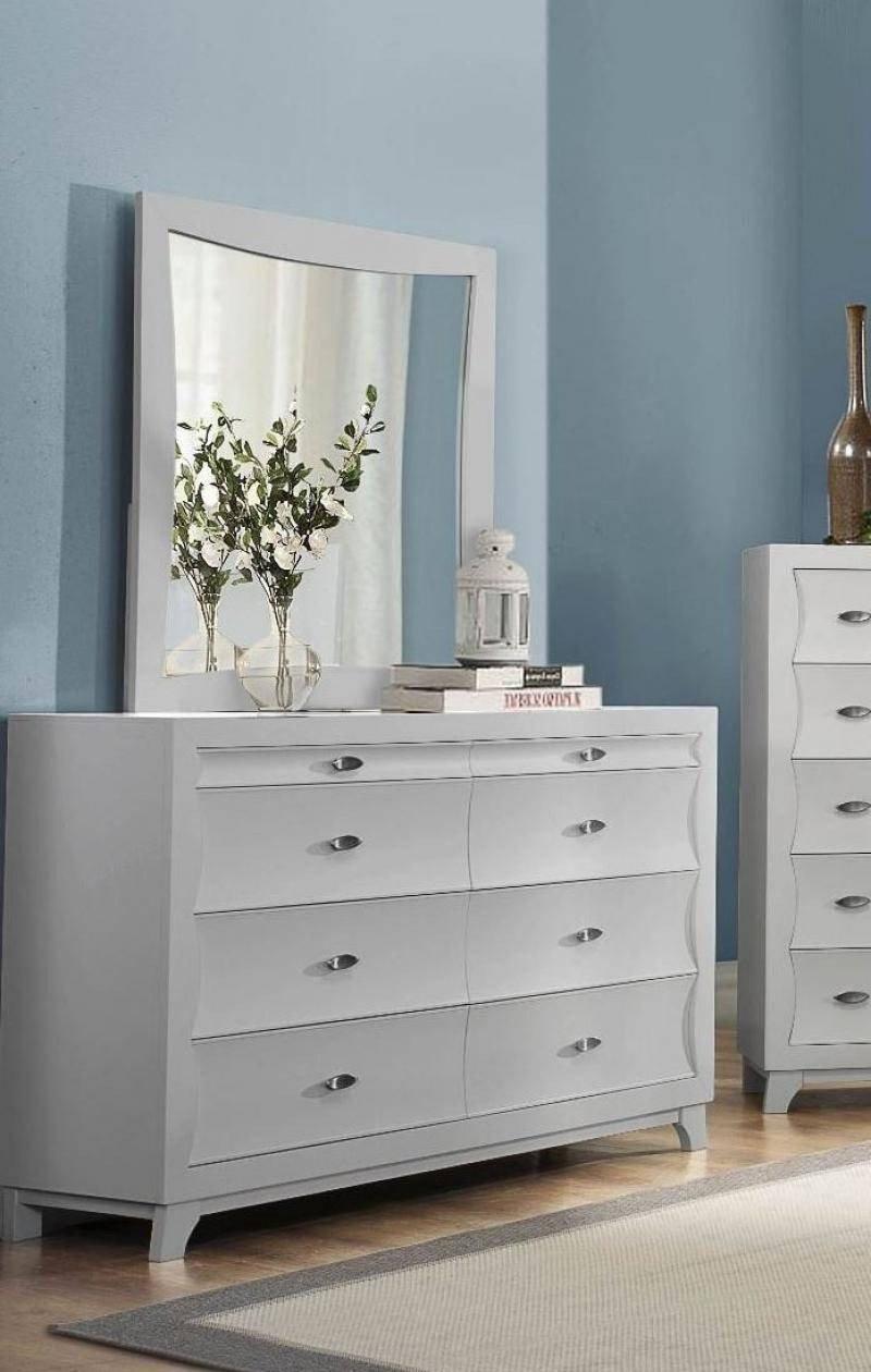 Cheap Mirrored Bedroom Furniture Elegant Homelegance 2262kw 1ck Zandra Pearl White Wood Cal King