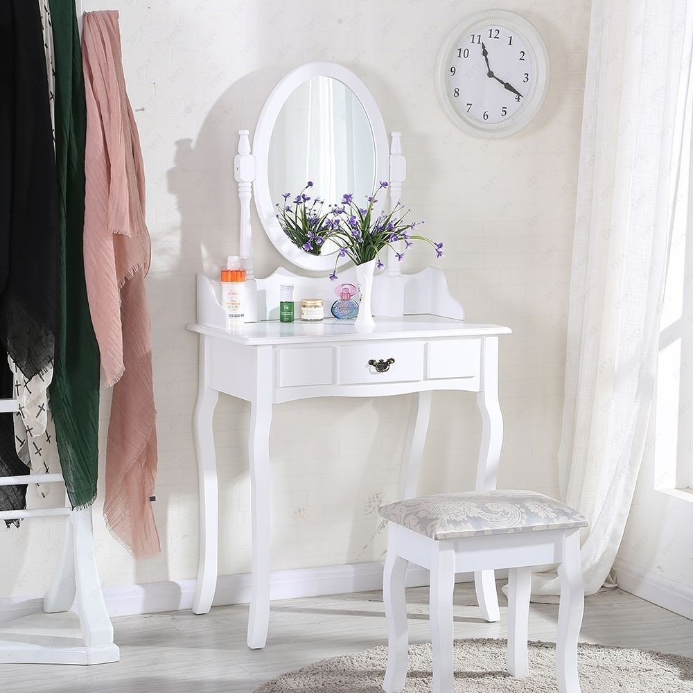 Cheap Mirrored Bedroom Furniture Fresh White Dressing Table Makeup Desk with Stool and Round Mirror Bedroom Buy Wooden Mirror Cabinet Dresser Cabinet Design Bedroom Mirror Cabinets