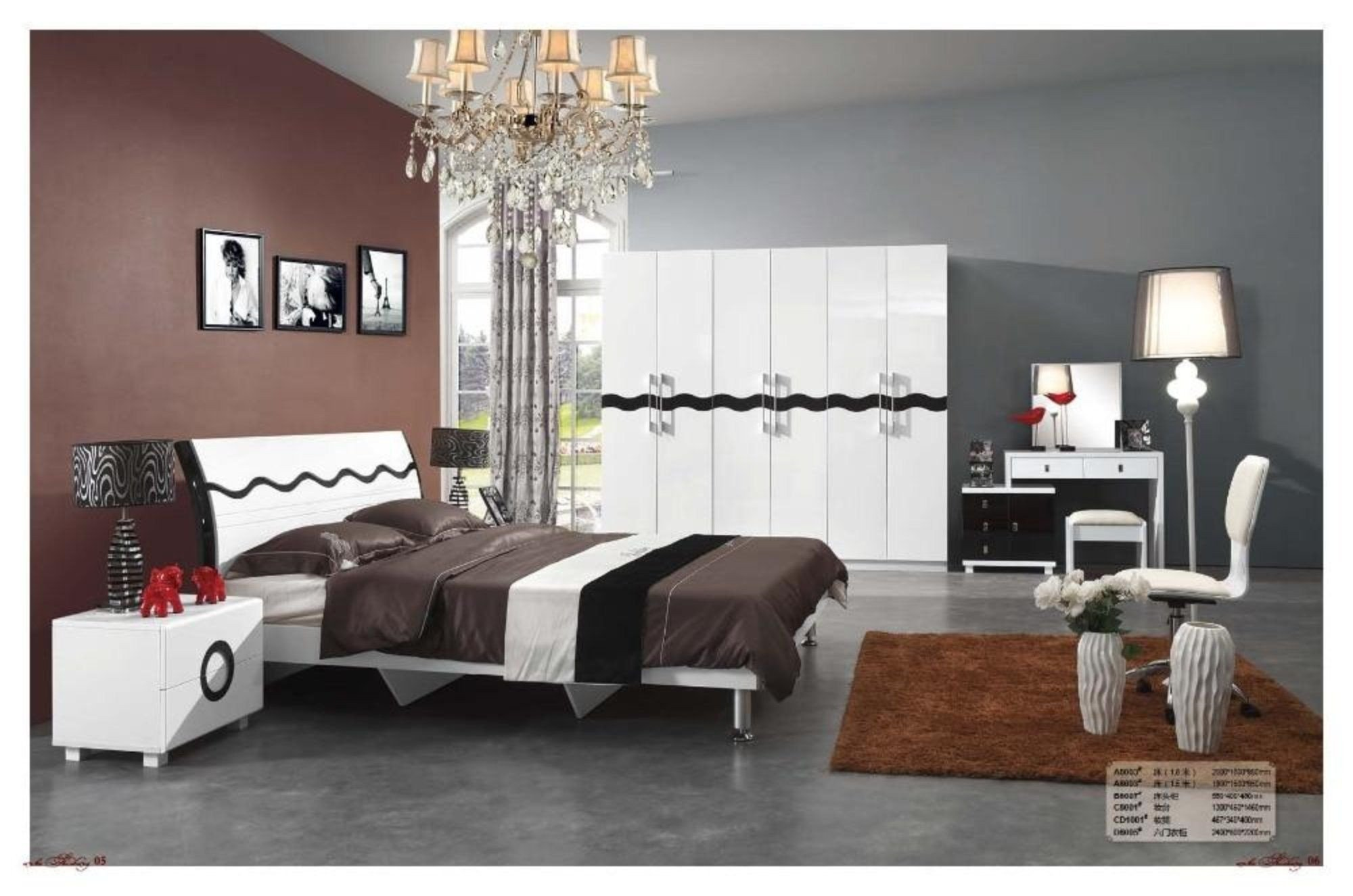 Cheap Modern Bedroom Set Awesome Modern Set Wooden Bed Night Stand Dresser In 2019