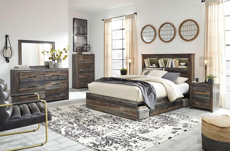 Cheap Queen Bedroom Set Elegant Drystan Bookcase Bedroom Set W Side Storage