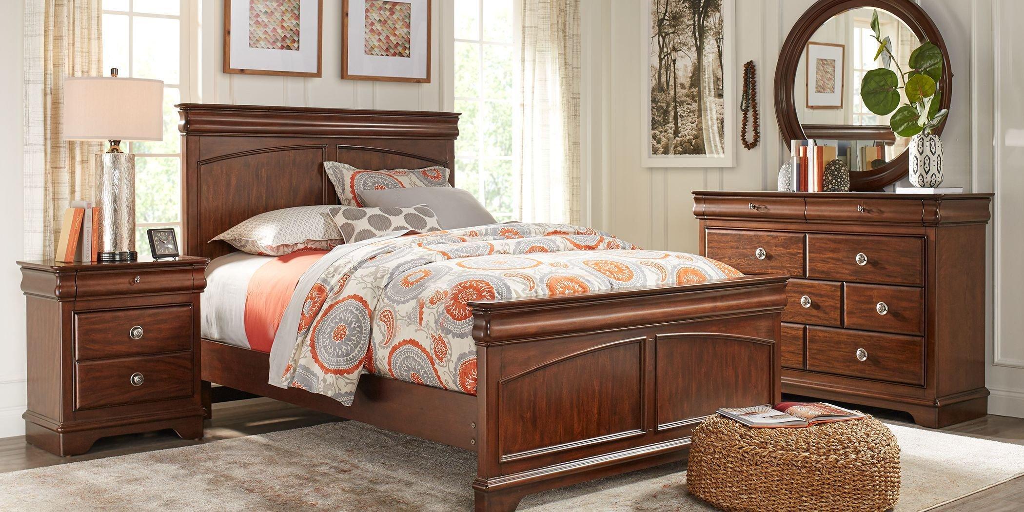 Cheap Twin Bedroom Set Luxury Kids Oberon Cherry 5 Pc Twin Panel Bedroom In 2019
