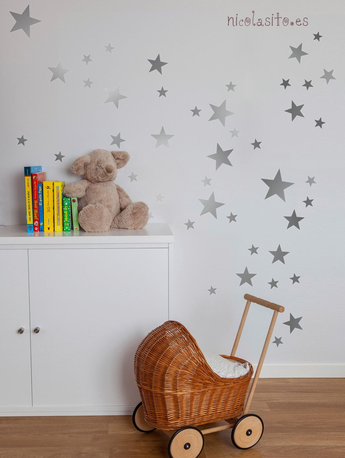 Childrens Bedroom Wall Stickers Removable Luxury Silver Stars Wall Decal Nursery Silver Stars Wall Stickers