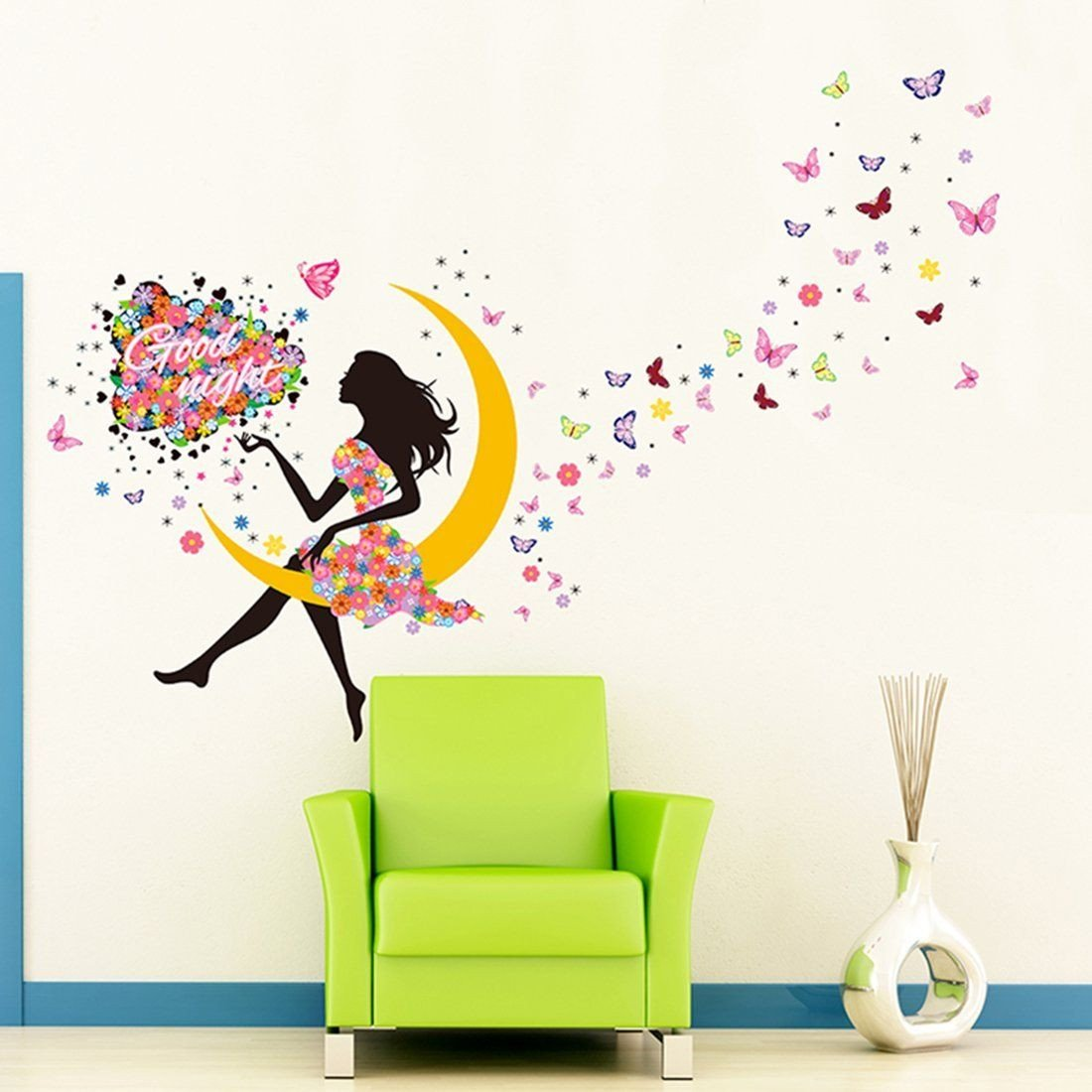 Childrens Bedroom Wall Stickers Removable New Amazon Yufeng Removable Diy Pvc Wall Sticker Decor