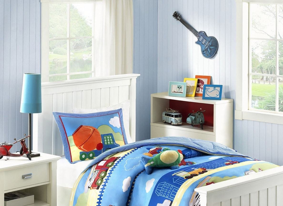 Childrens White Bedroom Furniture Inspirational Amazon Ph 3 Piece Boys Blue White Transportation