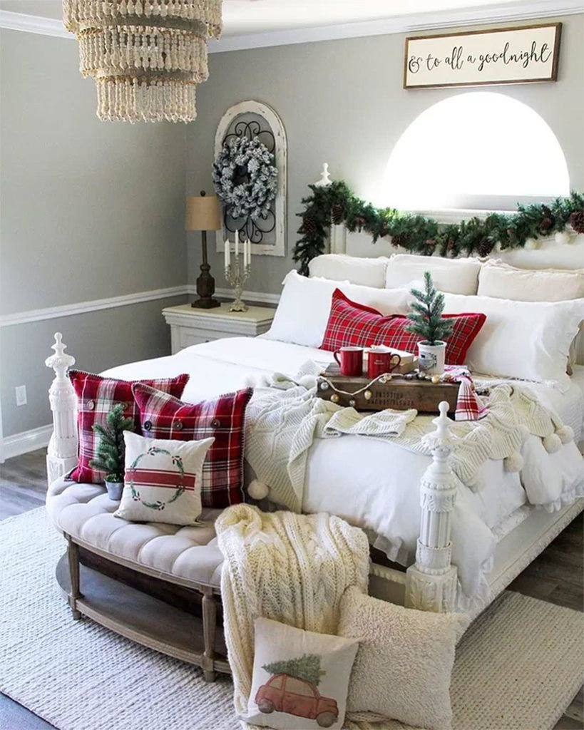 Christmas Bedroom Decorating Ideas Awesome Quick & Easy Christmas Bedroom Decor Makeover Ideas