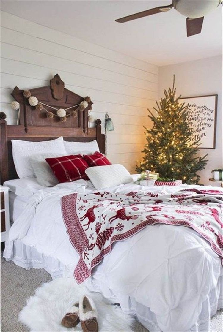 Christmas Bedroom Decorating Ideas Inspirational Christmas Bedroom Decoration Bedroom Decor Winter Bedroom