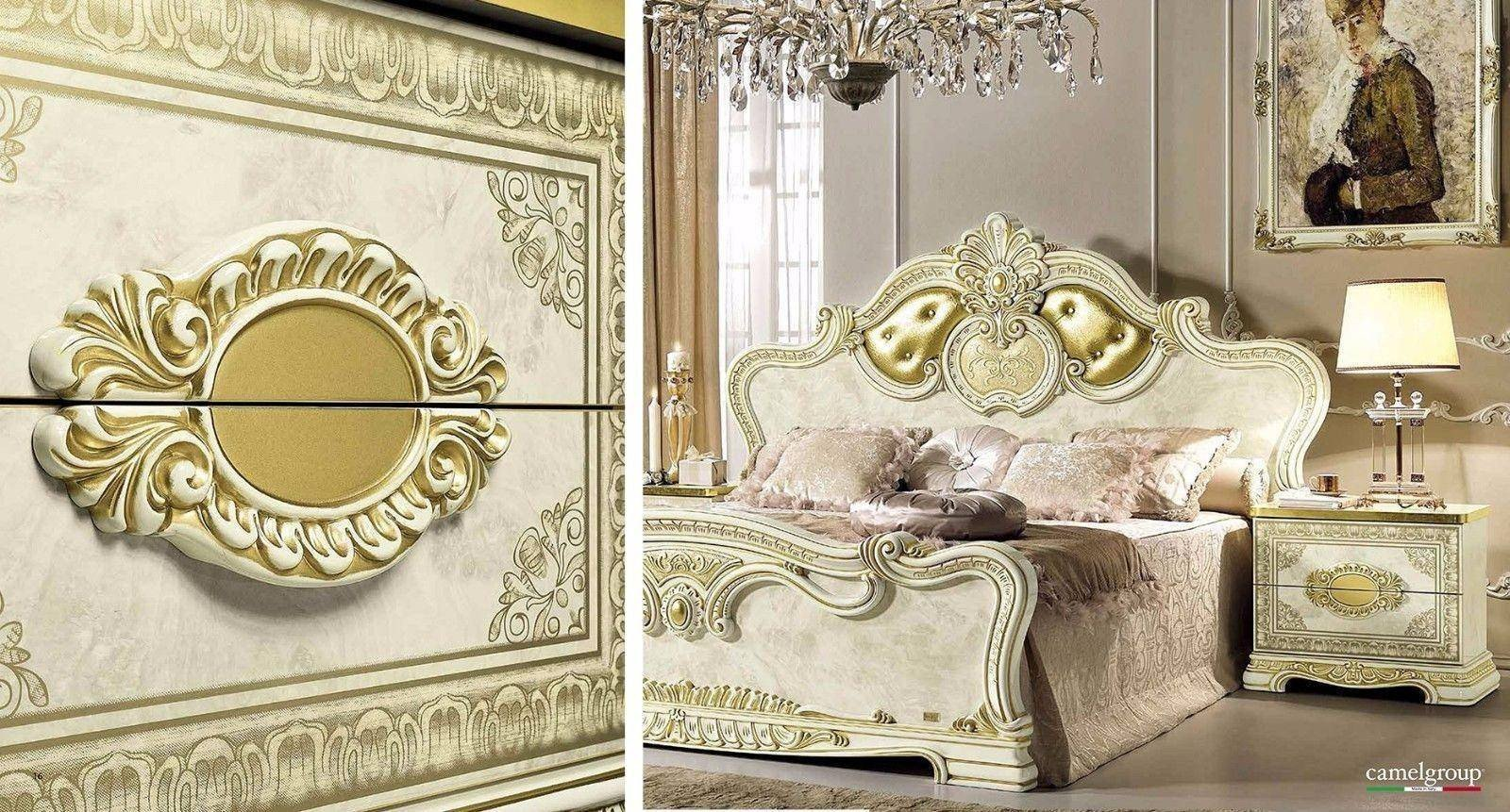 Classic Italian Bedroom Furniture Beautiful Luxury Gold Ivory Queen Bedroom Set 5 Classic Royalty Made