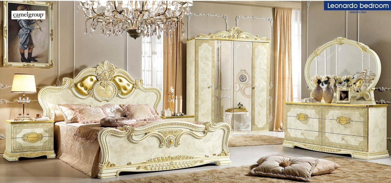 Classic Italian Bedroom Furniture Best Of Luxury Gold Ivory Queen Bedroom Set 5 Classic Royalty Made