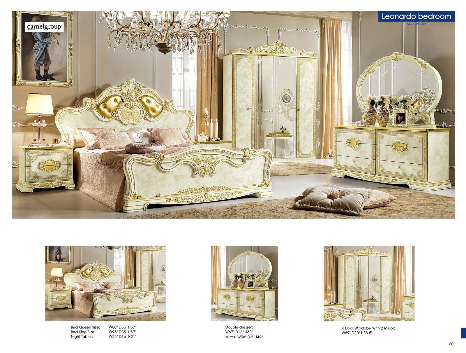Classic Italian Bedroom Furniture Lovely Luxury Gold Ivory Queen Bedroom Set 5 Classic Royalty Made