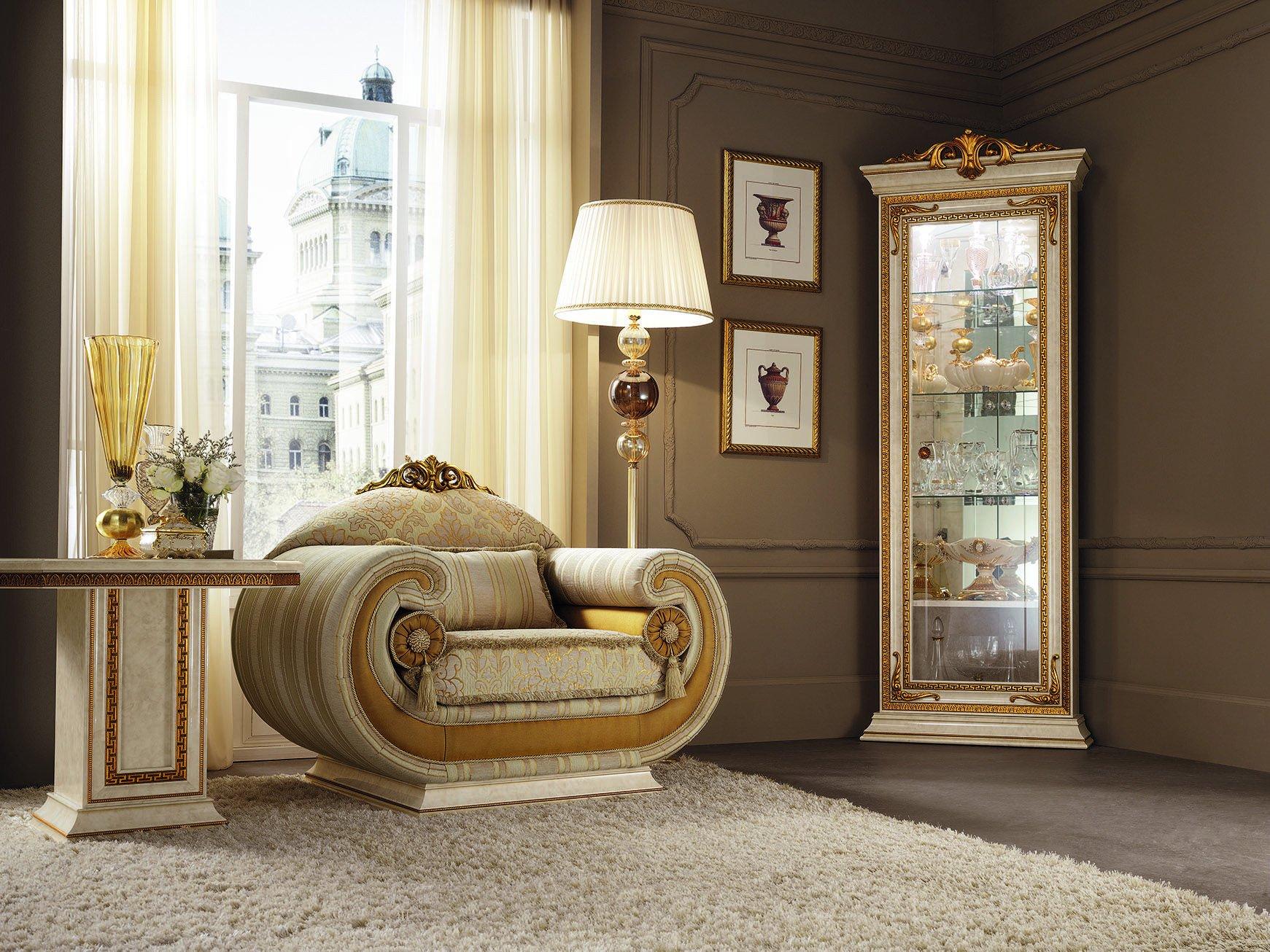 Classic Italian Bedroom Furniture New Leonardo Collection Living Room Armchair