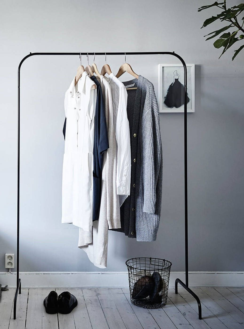 Clothing Rack for Bedroom Beautiful Cozy Grey Home Via Cocolapinedesign