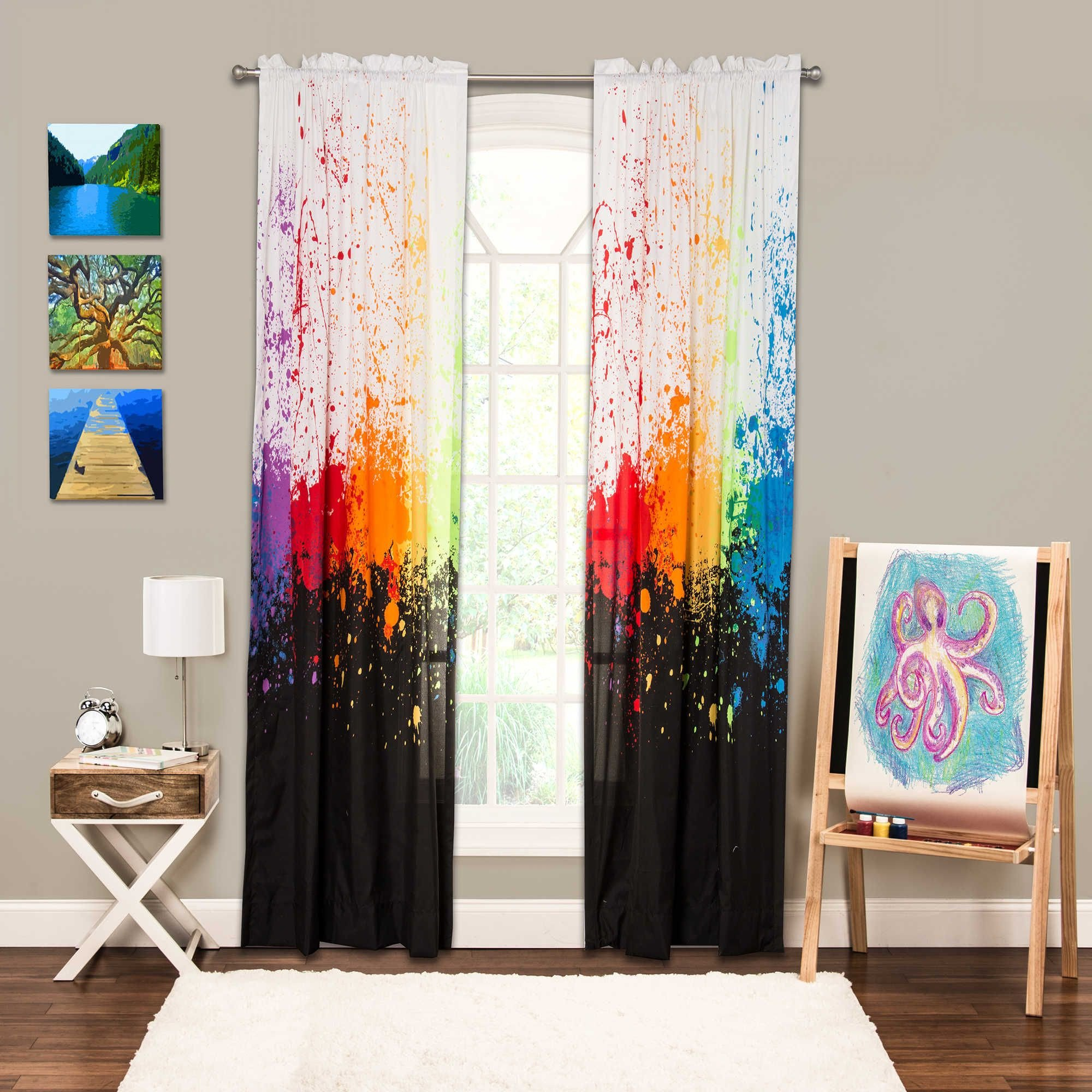 Colorful Curtains for Bedroom Awesome Crayola Cosmic Burst 84 Inch Rod Pocket Window Panel In